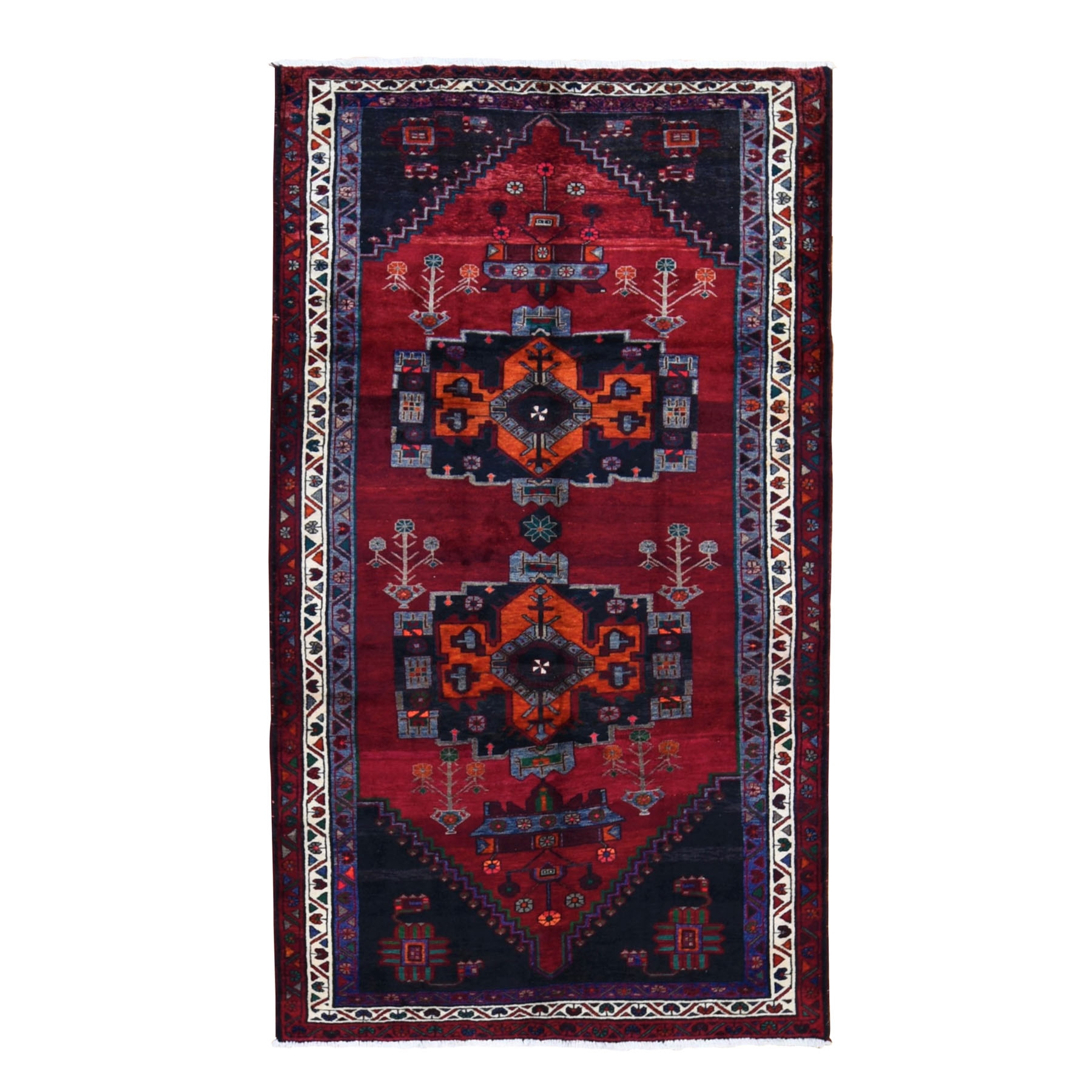 Classic Persian Collection Hand Knotted Red Rug No: 0198536