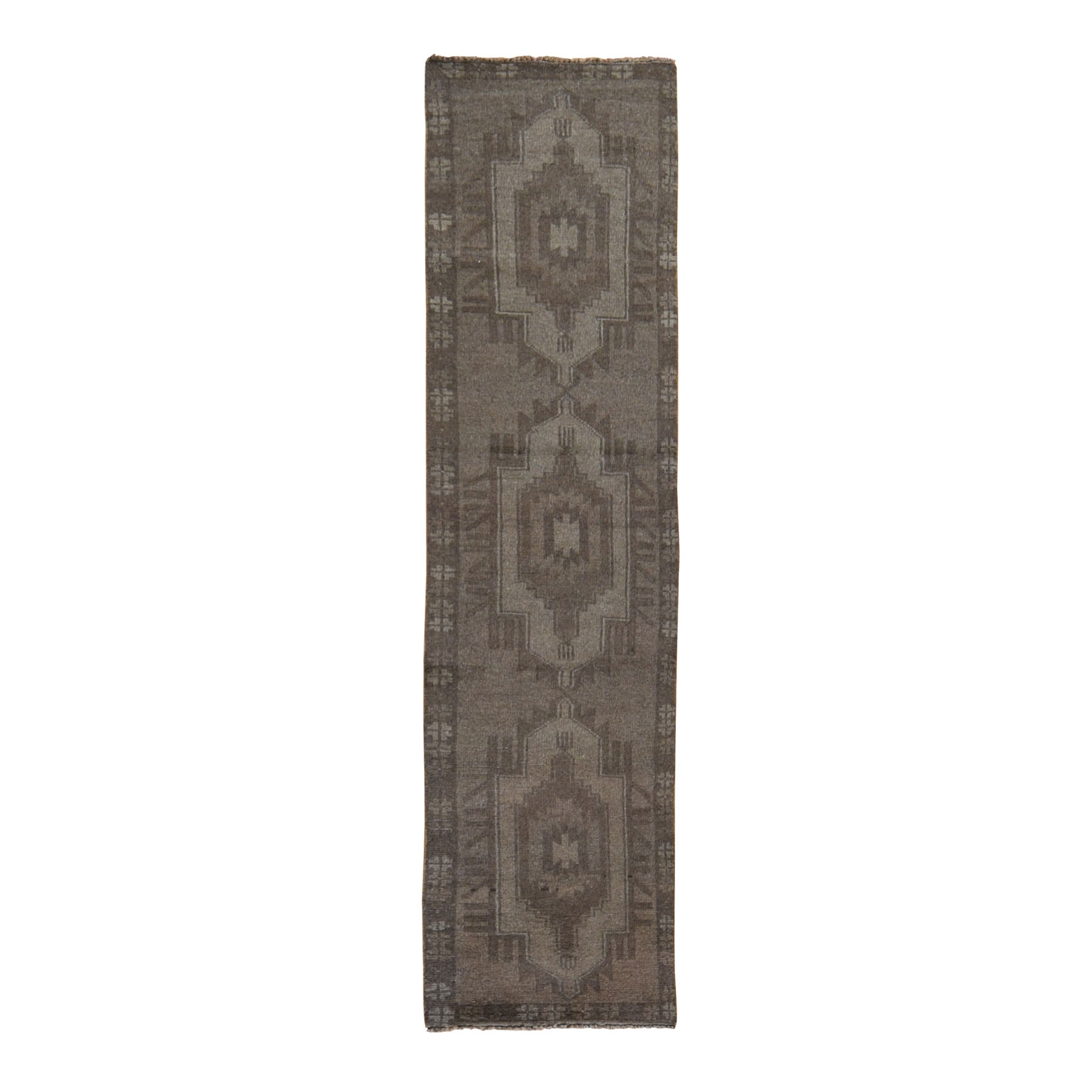 Nomadic And Village Collection Hand Knotted Brown Rug No: 0198544