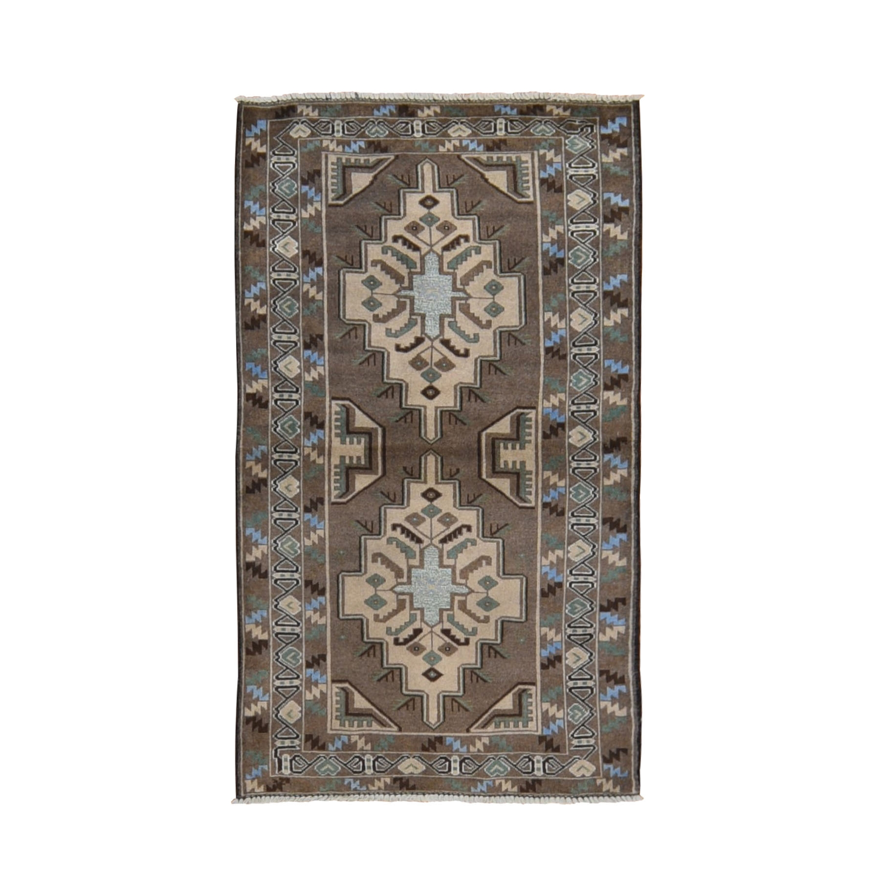 Nomadic And Village Collection Hand Knotted Brown Rug No: 0198592