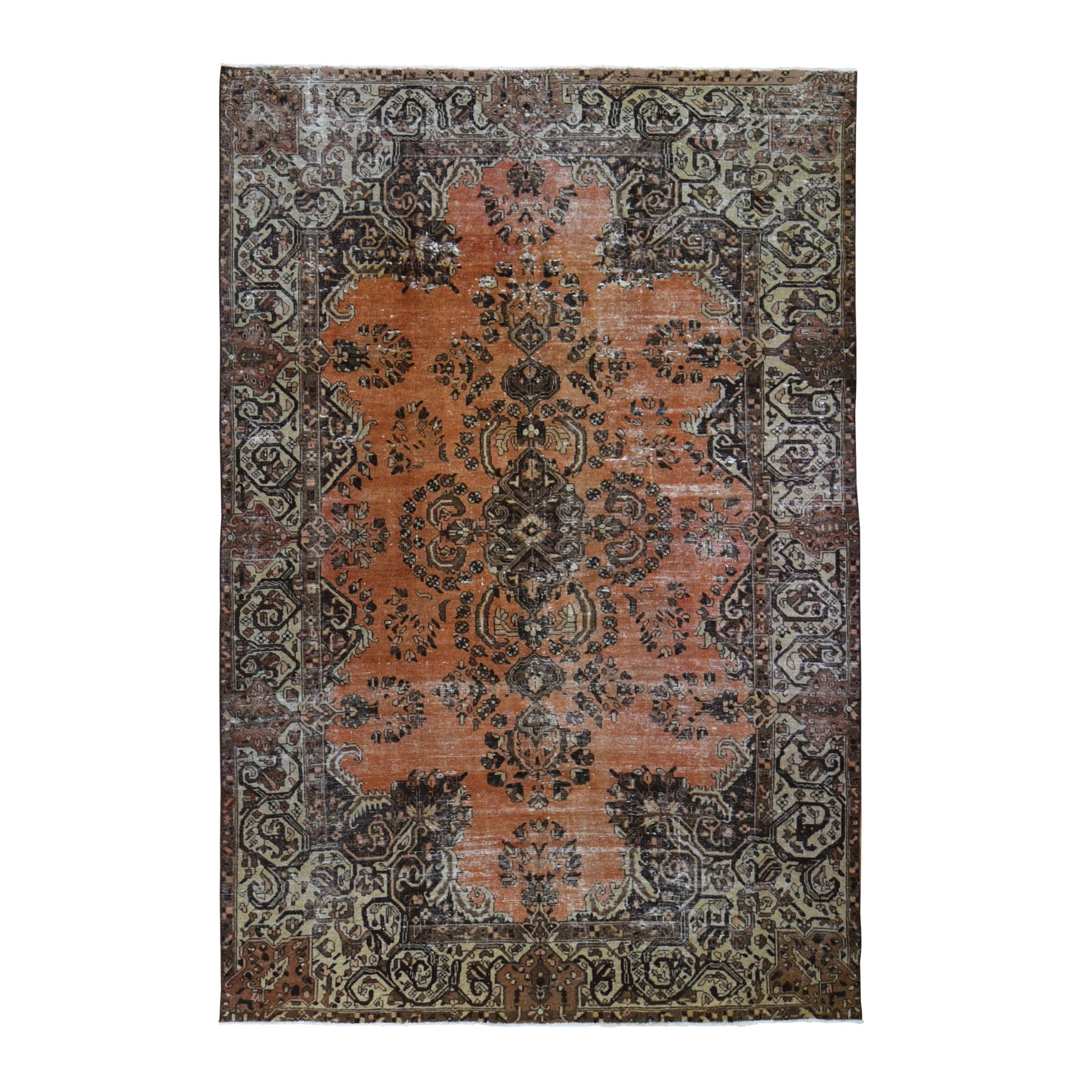 Classic Persian Collection Hand Knotted Orange Rug No: 0198568
