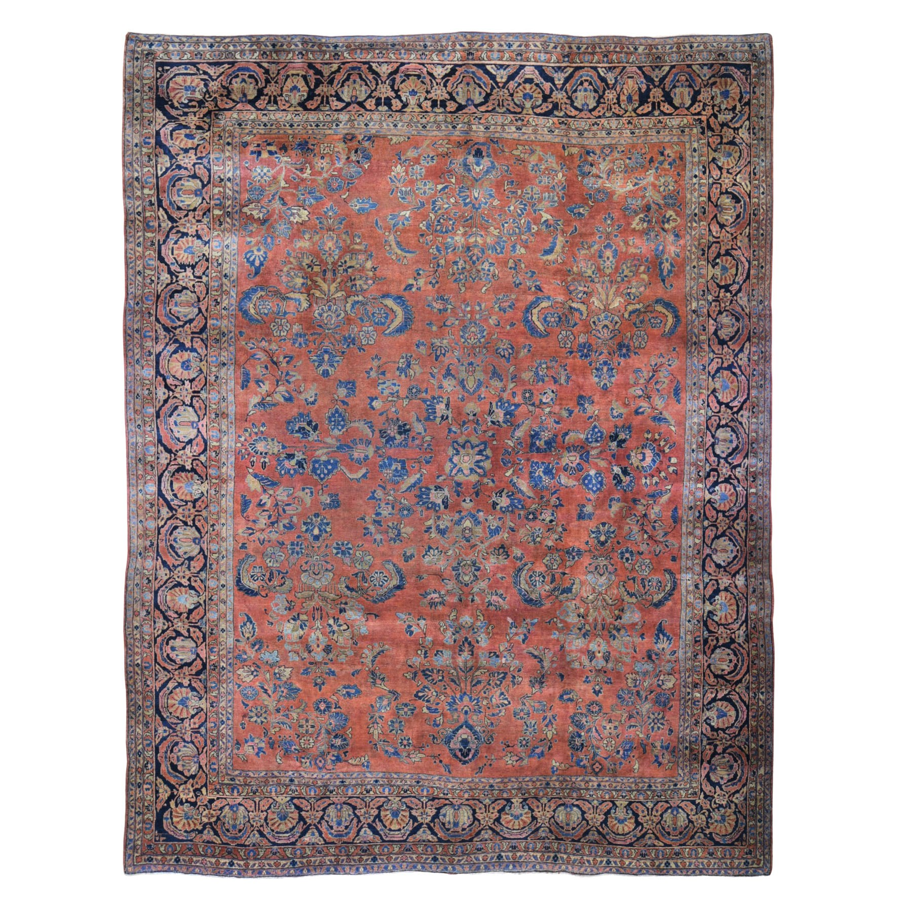 Antique Collection Hand Knotted Red Rug No: 0198600