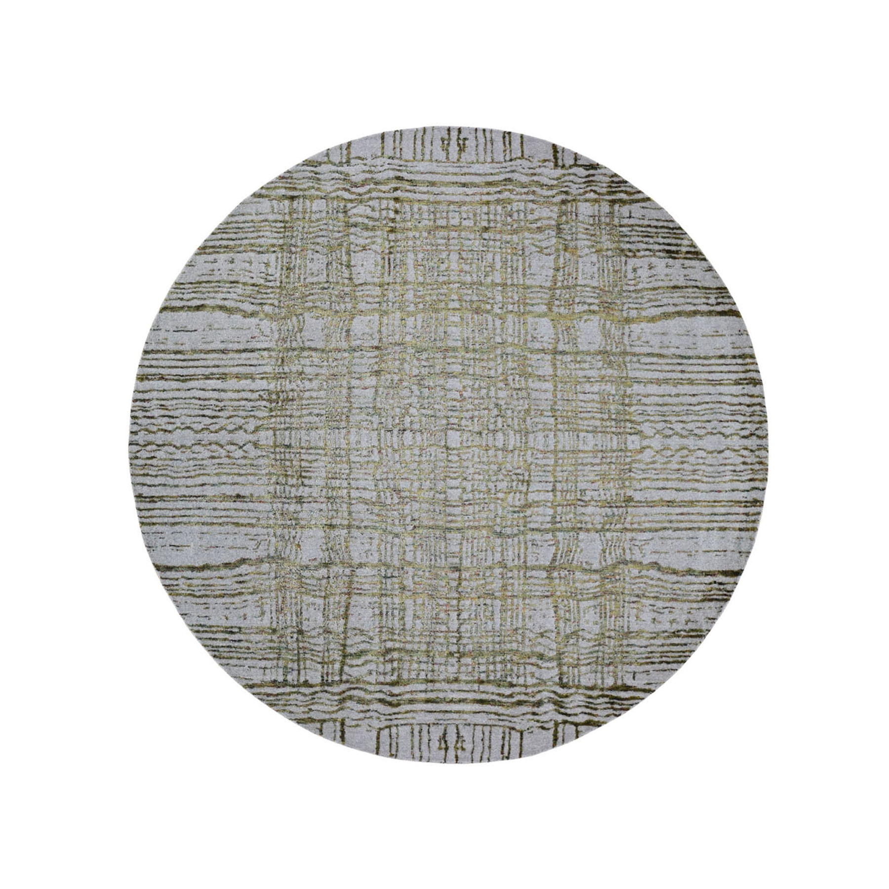 Mid Century Modern Collection Hand Loomed Grey Rug No: 0198632