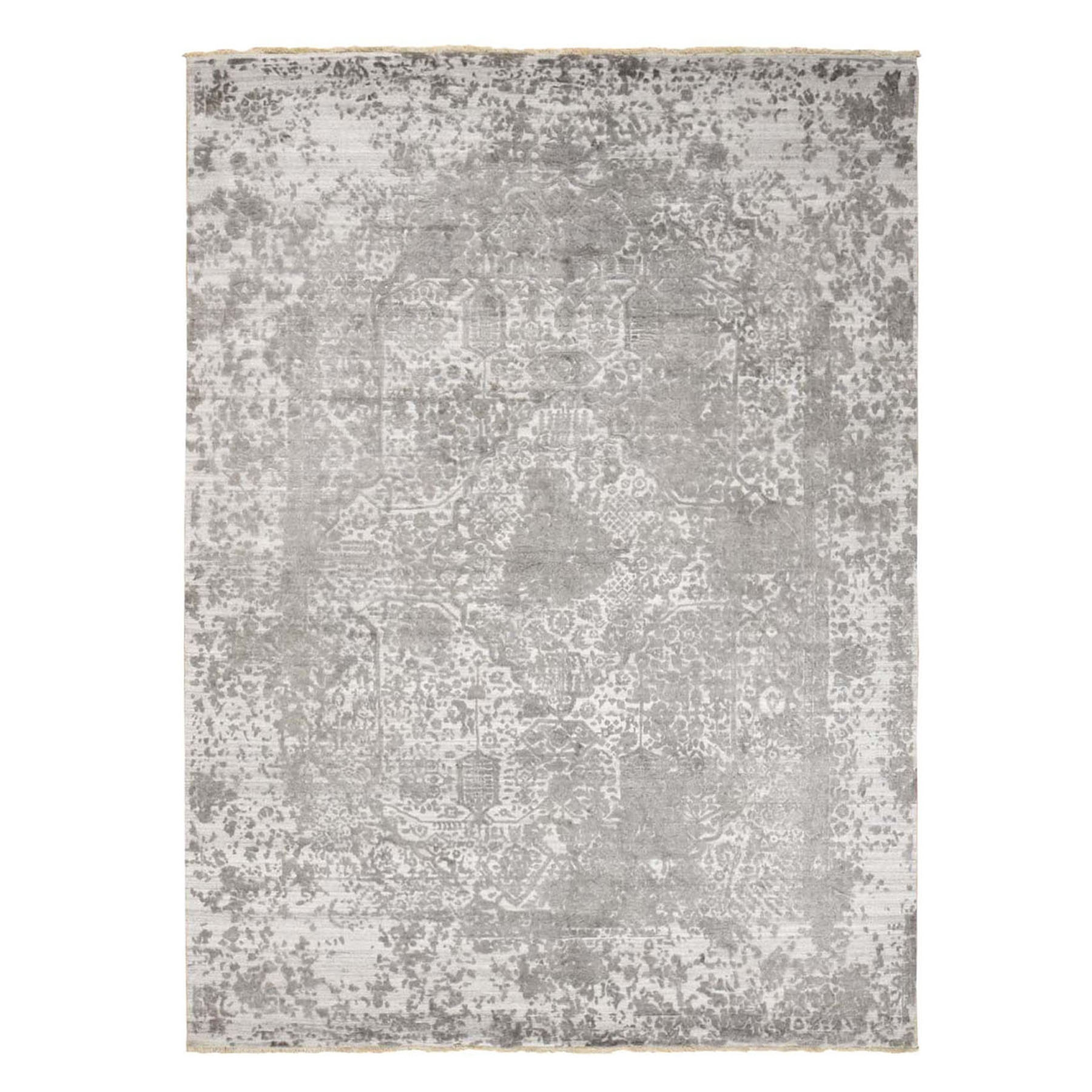 Transitional Hand Knotted Grey Rug No: 0198642