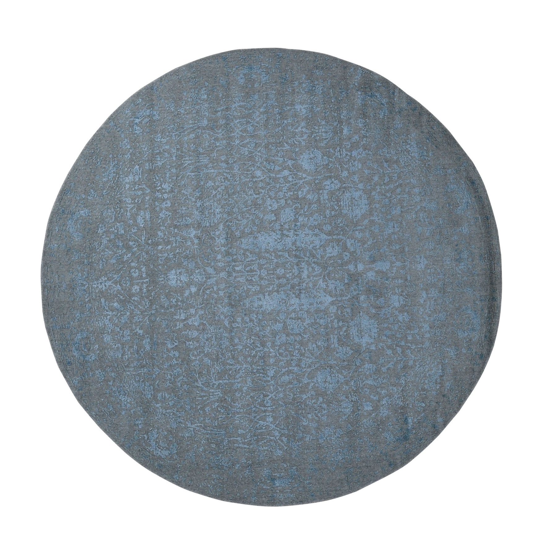 Transitional Hand Loomed Grey Rug No: 0198680