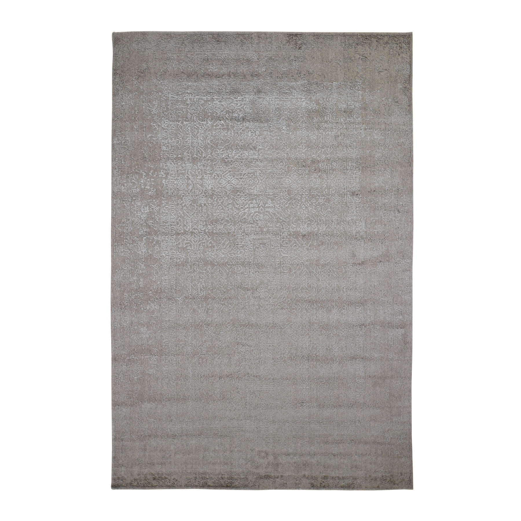 Mid Century Modern Collection Hand Loomed Beige Rug No: 198666