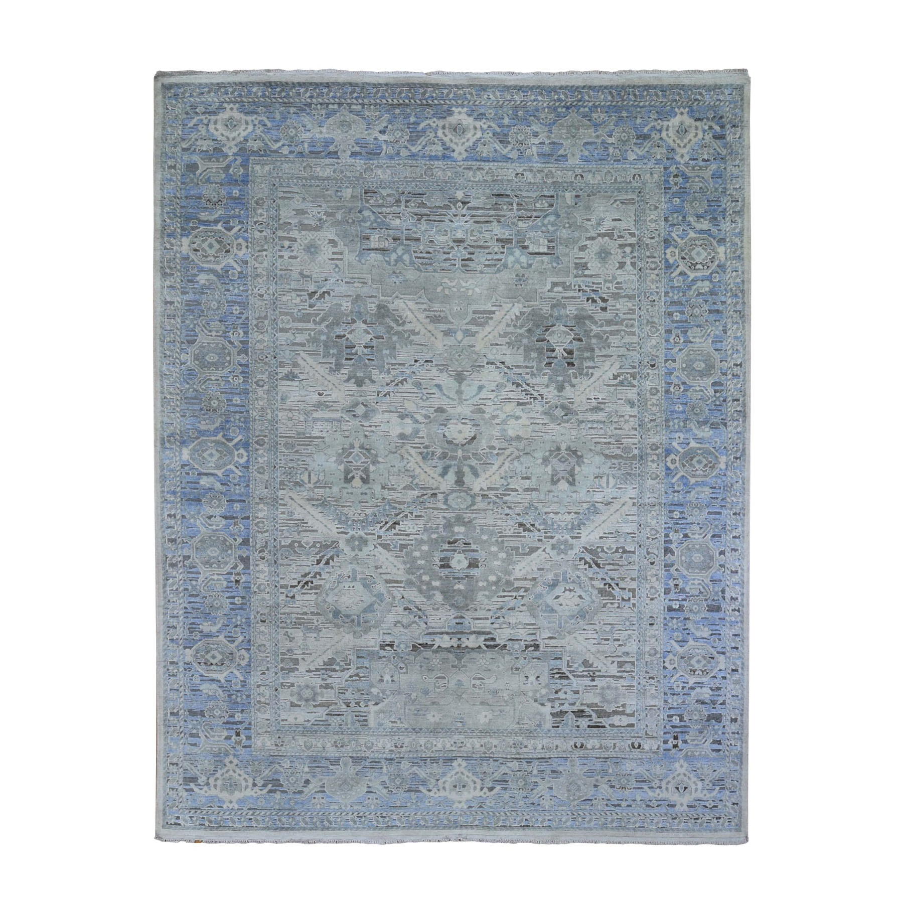Agra And Turkish Collection Hand Knotted Ivory Rug No: 0198756