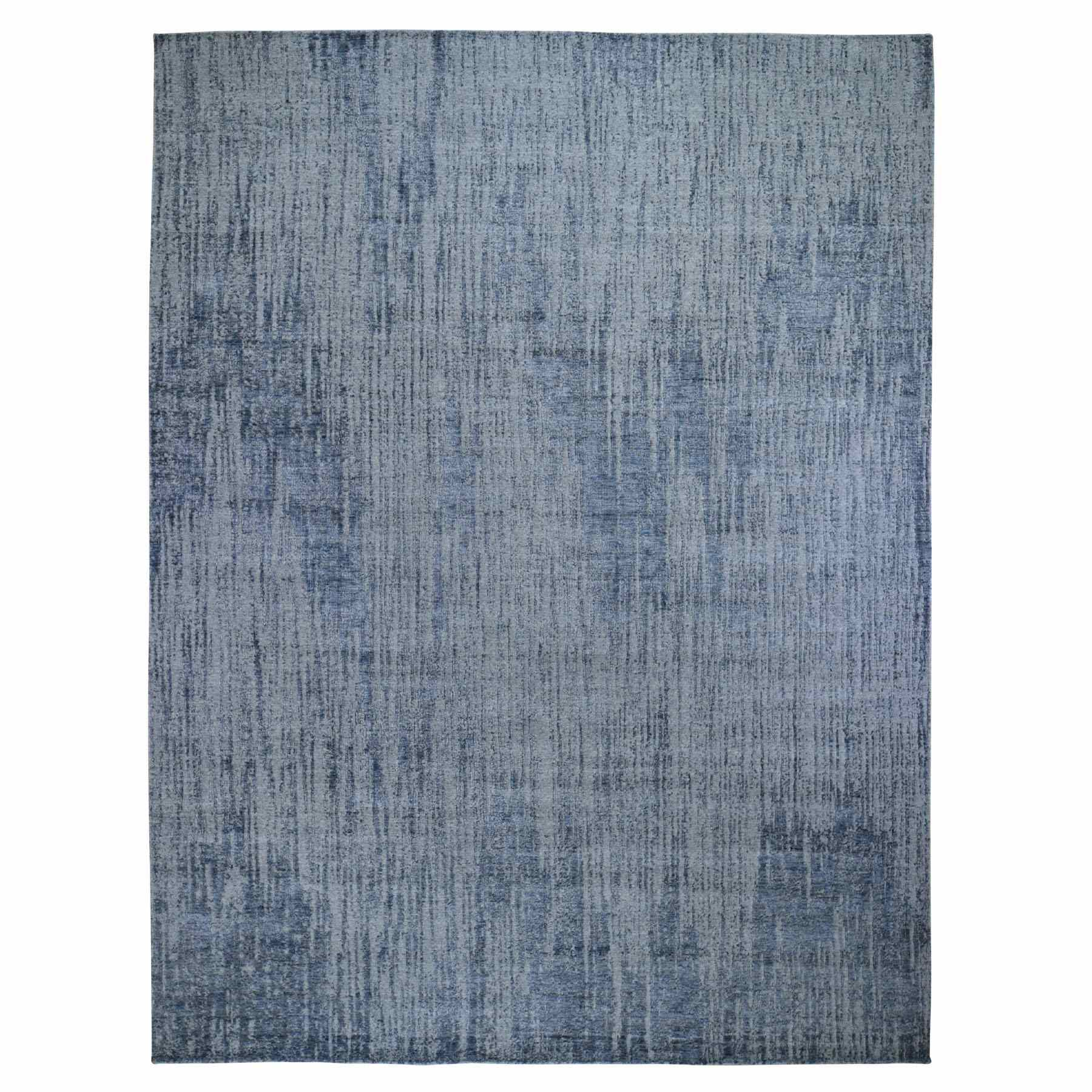 Mid Century Modern Collection Hand Loomed Grey Rug No: 0198910