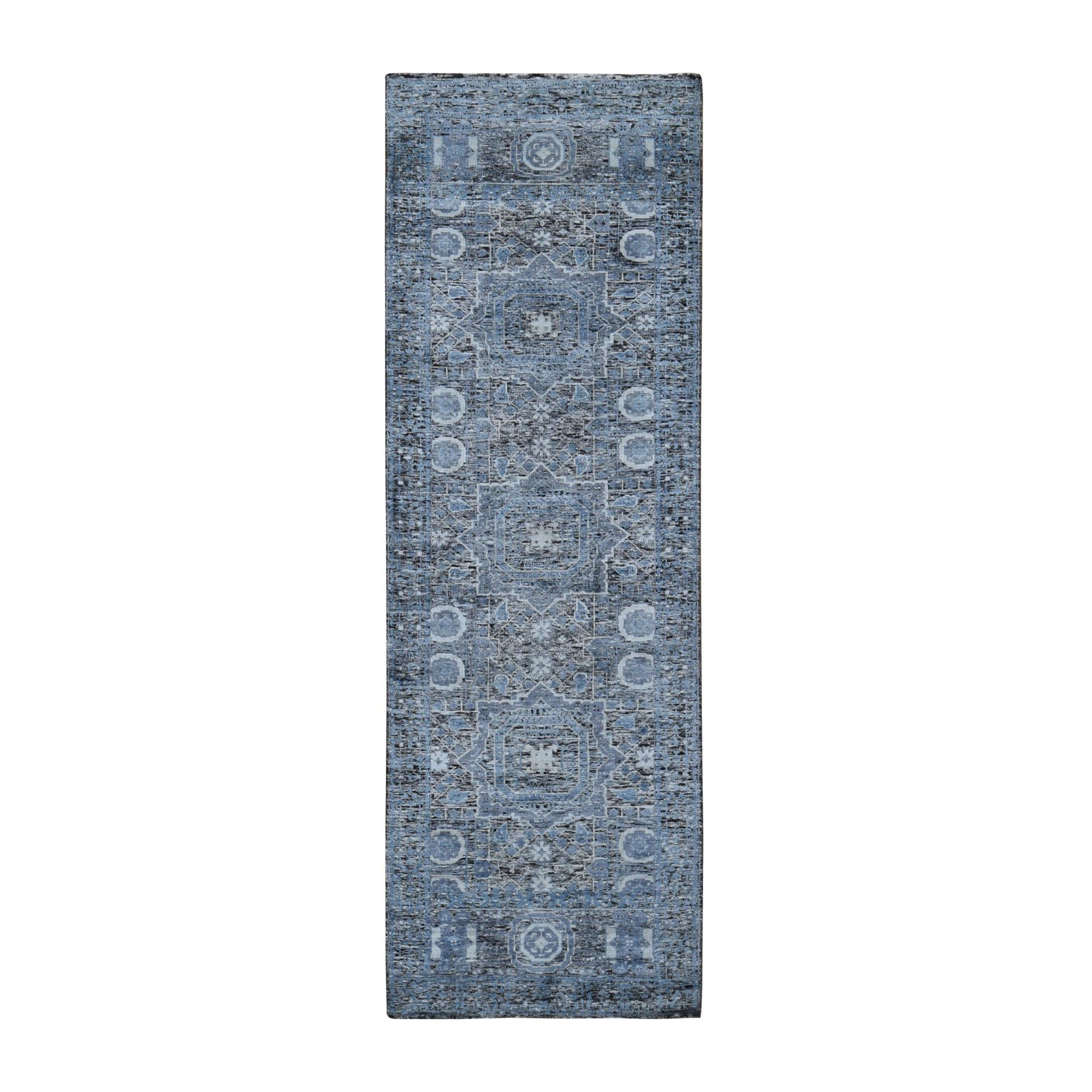 Intricate Collection Hand Knotted Blue Rug No: 198912