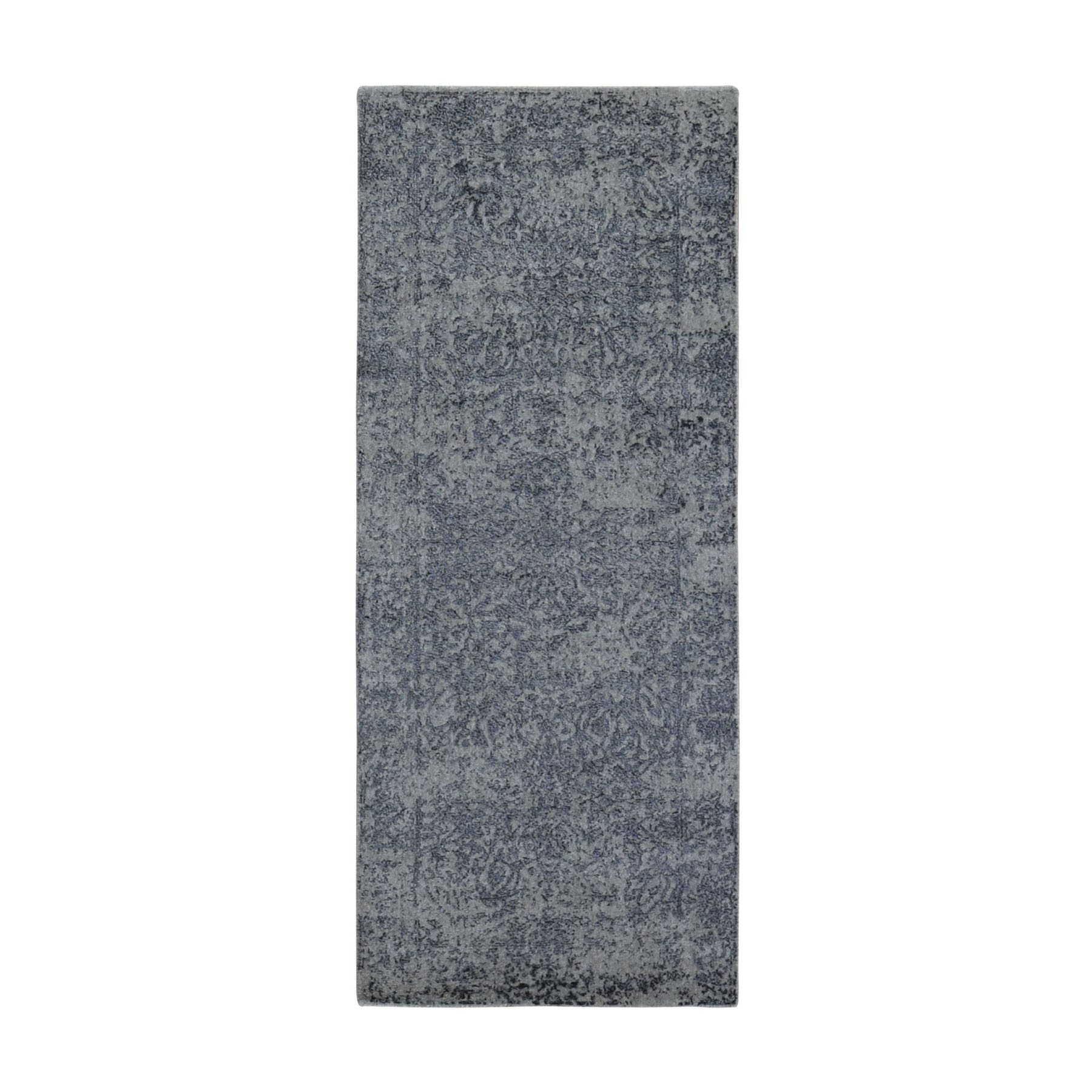 Transitional Hand Loomed Grey Rug No: 0198940