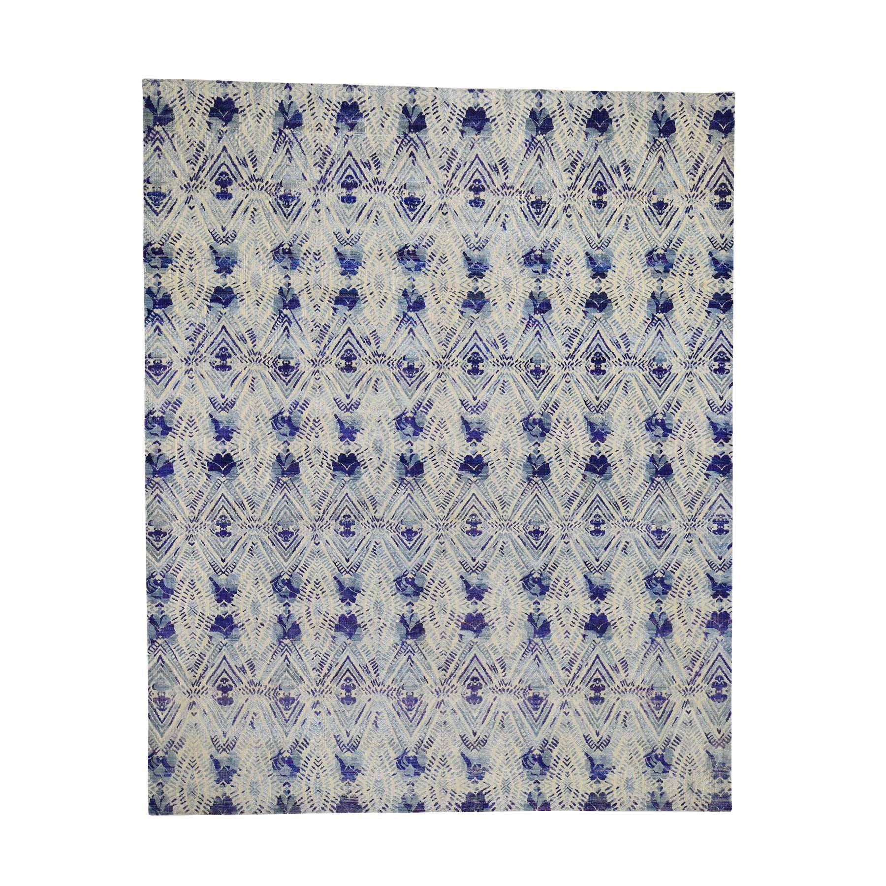 Eclectic and Bohemian Collection Hand Knotted Blue Rug No: 0192034