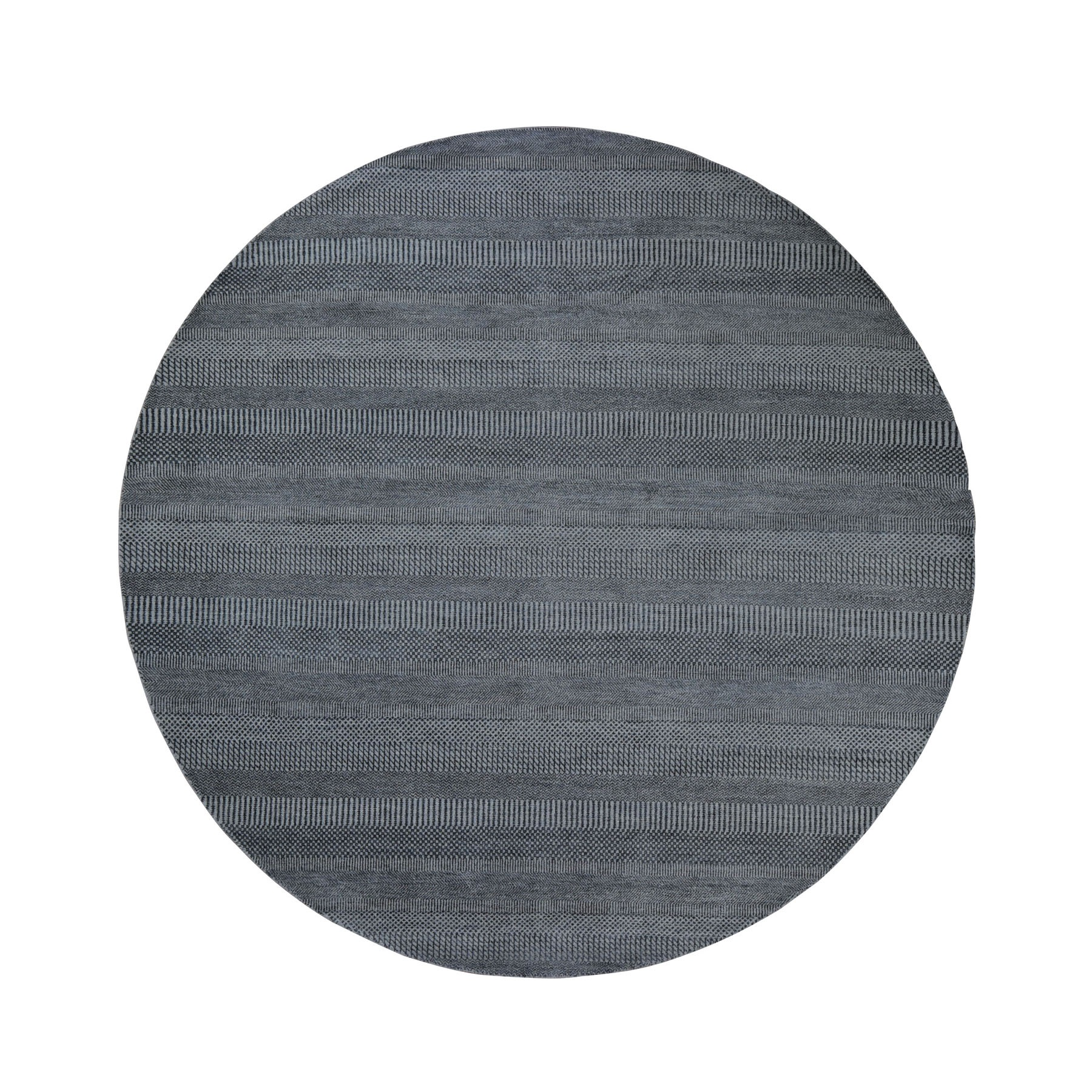 Mid Century Modern Collection Hand Knotted Grey Rug No: 0198958