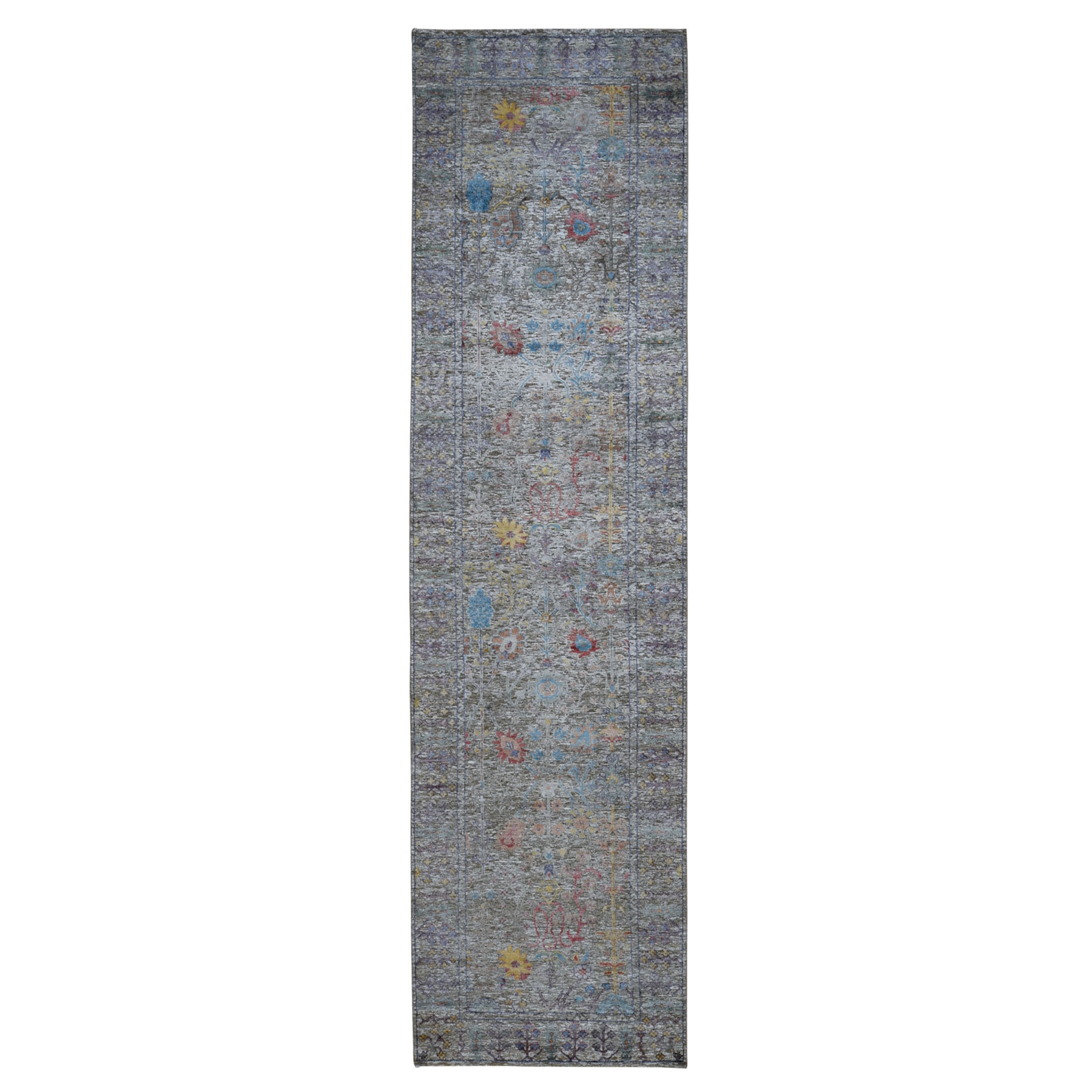 Transitional Hand Knotted Brown Rug No: 0198950