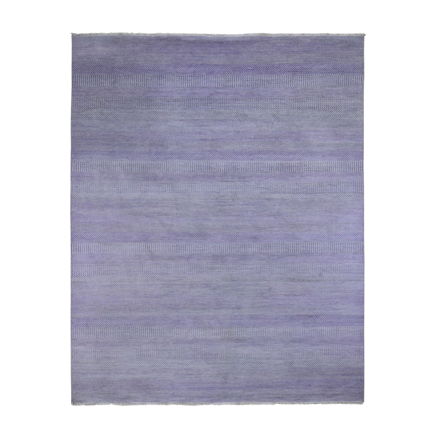 Mid Century Modern Collection Hand Knotted Purple Rug No: 0199000