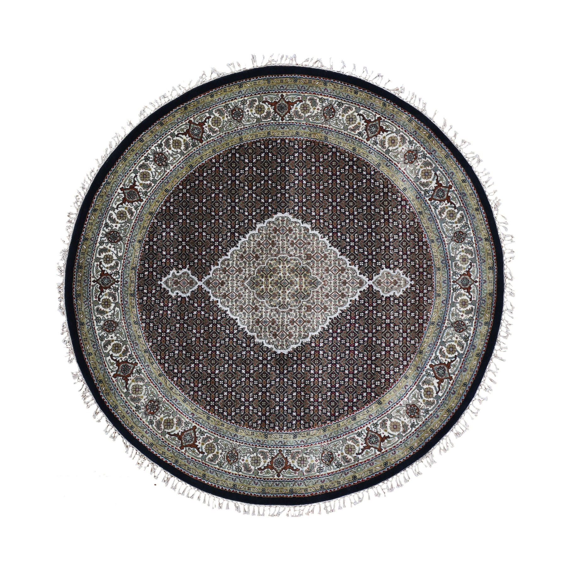 Pirniakan Collection Hand Knotted Black Rug No: 0199008