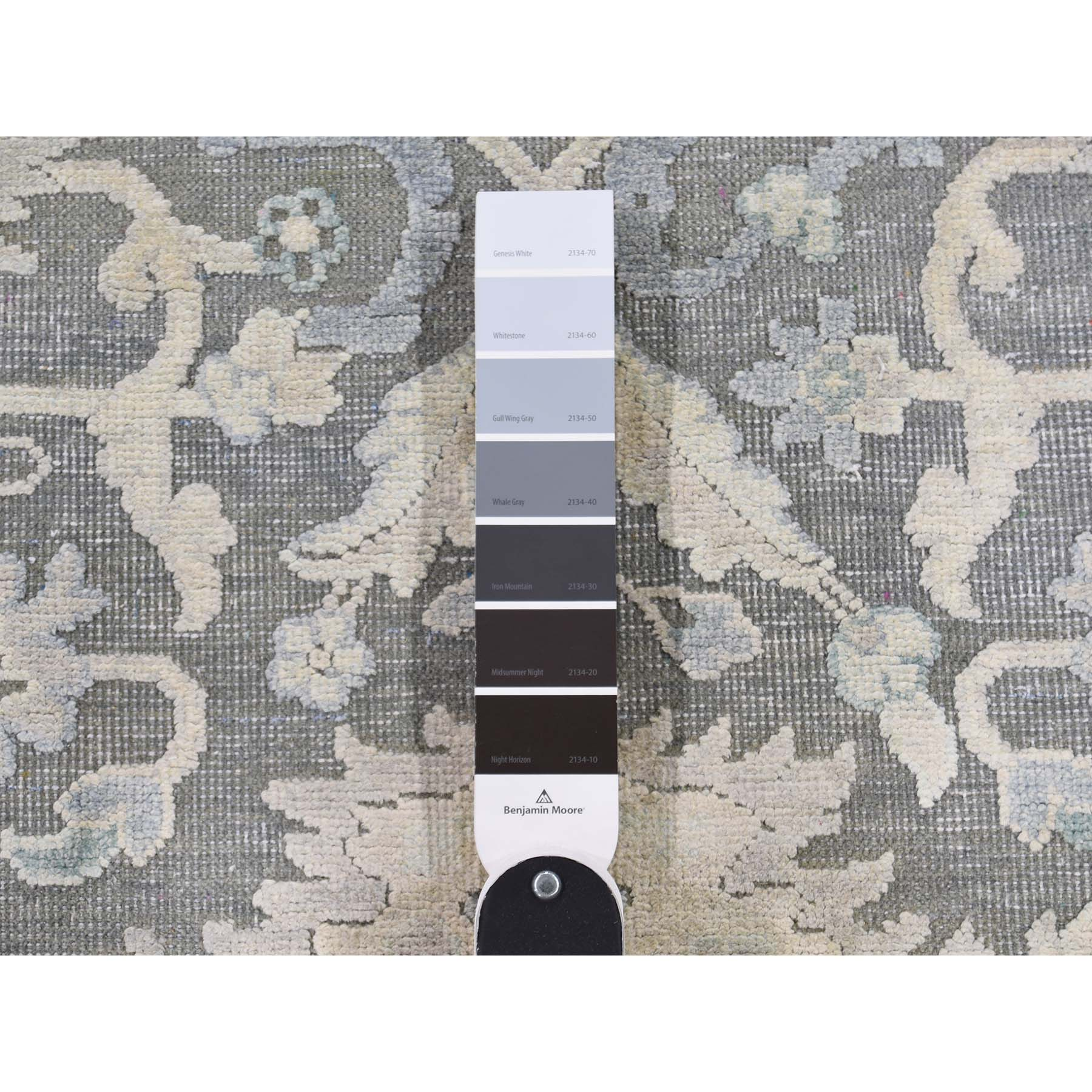 Agra And Turkish Collection Hand Knotted Grey 0186390 Rug