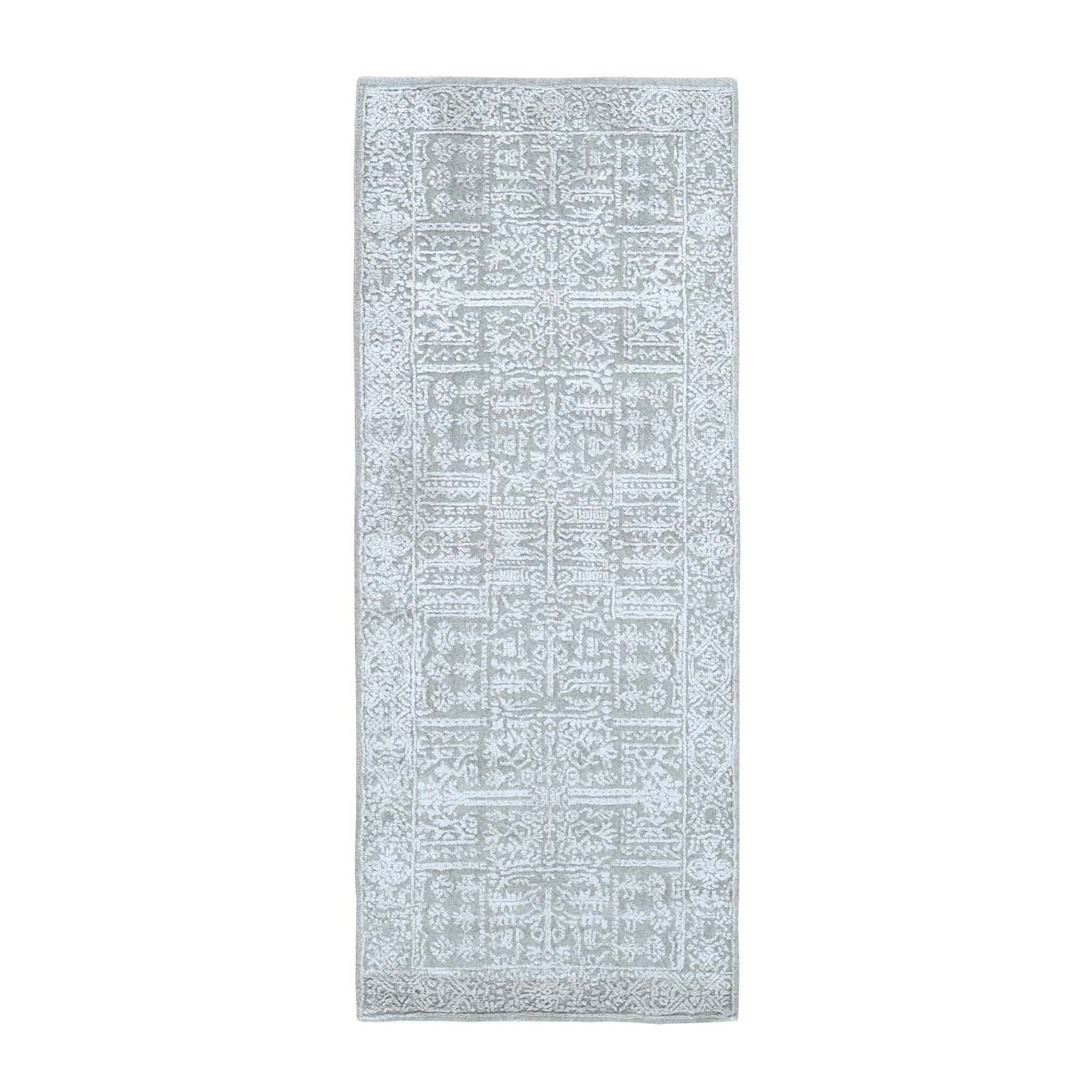 Mid Century Modern Collection Hand Loomed Grey Rug No: 0199154