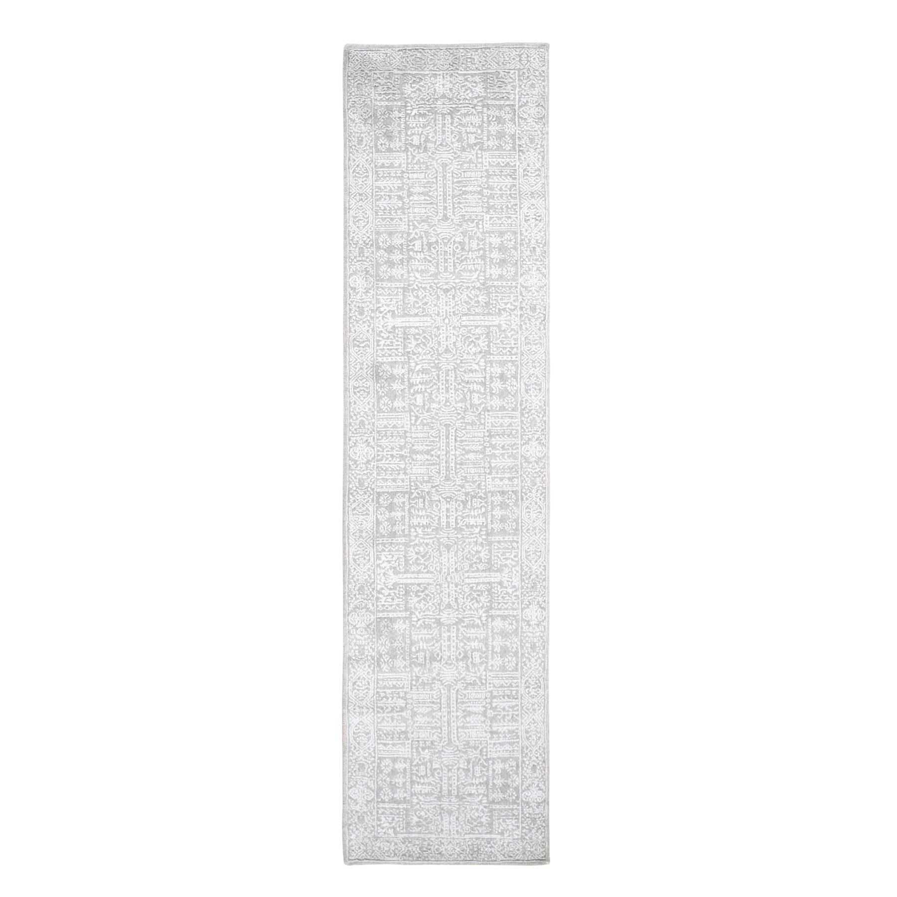 Mid Century Modern Collection Hand Loomed Grey Rug No: 0199156