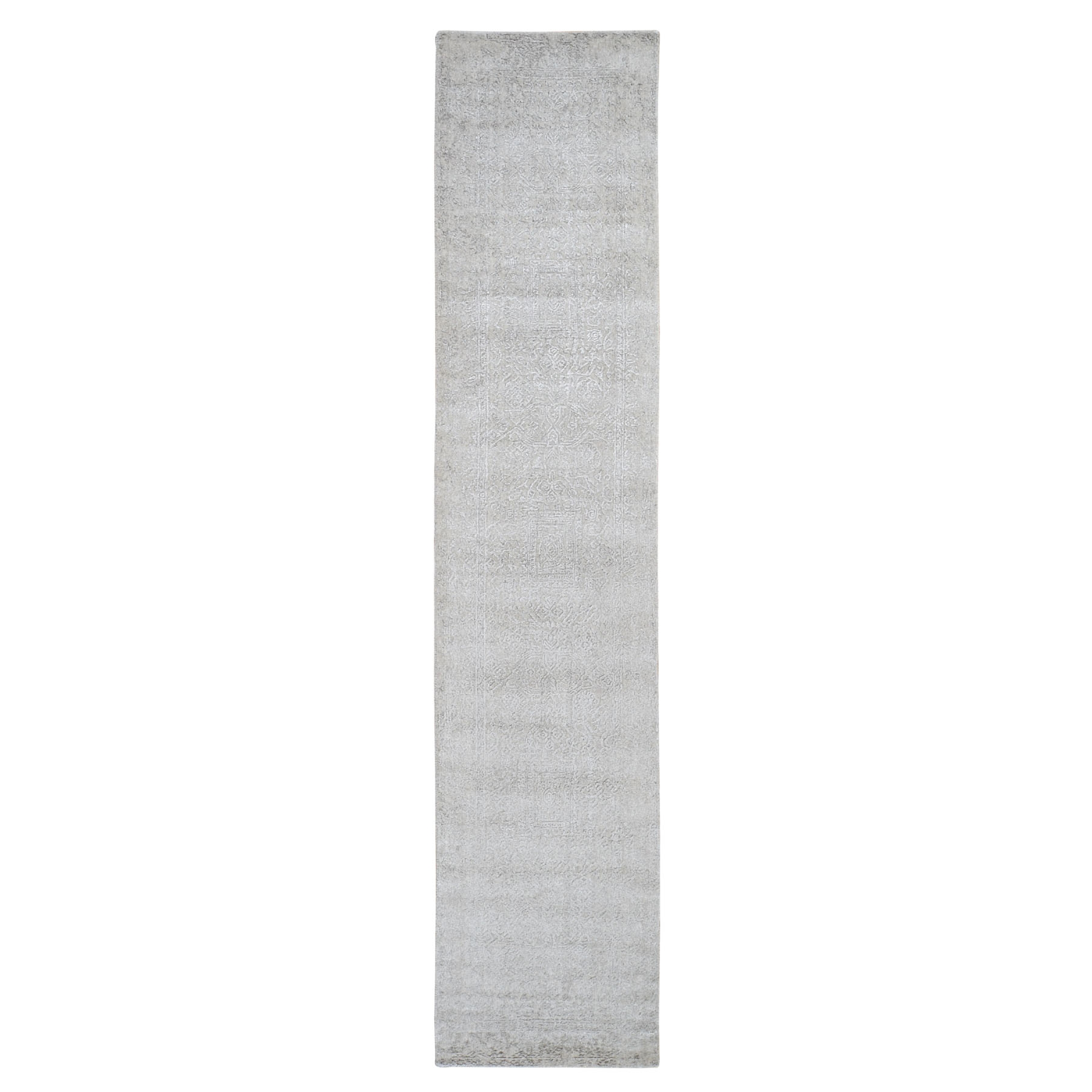 Mid Century Modern Collection Hand Loomed Grey Rug No: 0199158