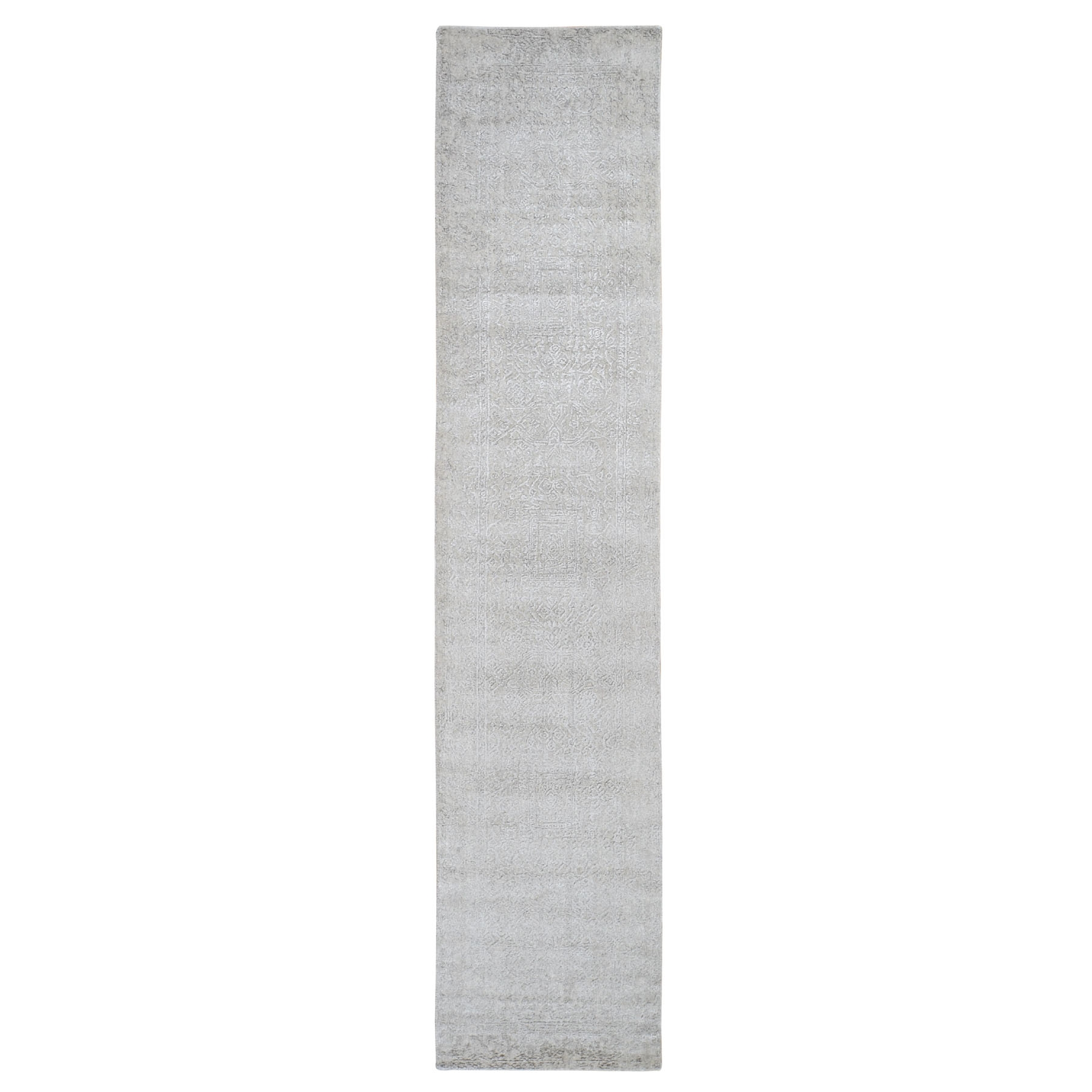 Mid Century Modern Collection Hand Loomed Grey Rug No: 0199160