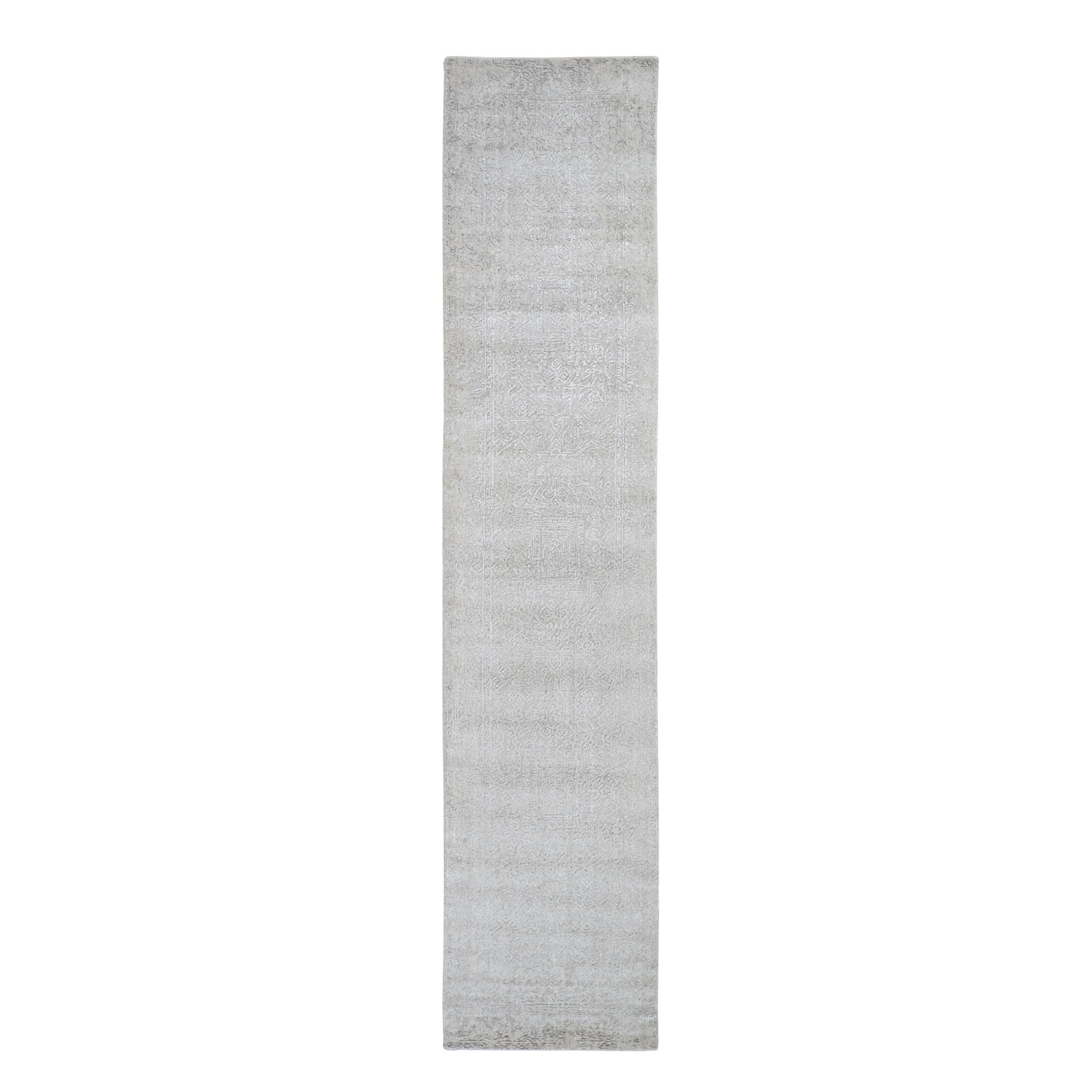 Mid Century Modern Collection Hand Loomed Grey Rug No: 0199162
