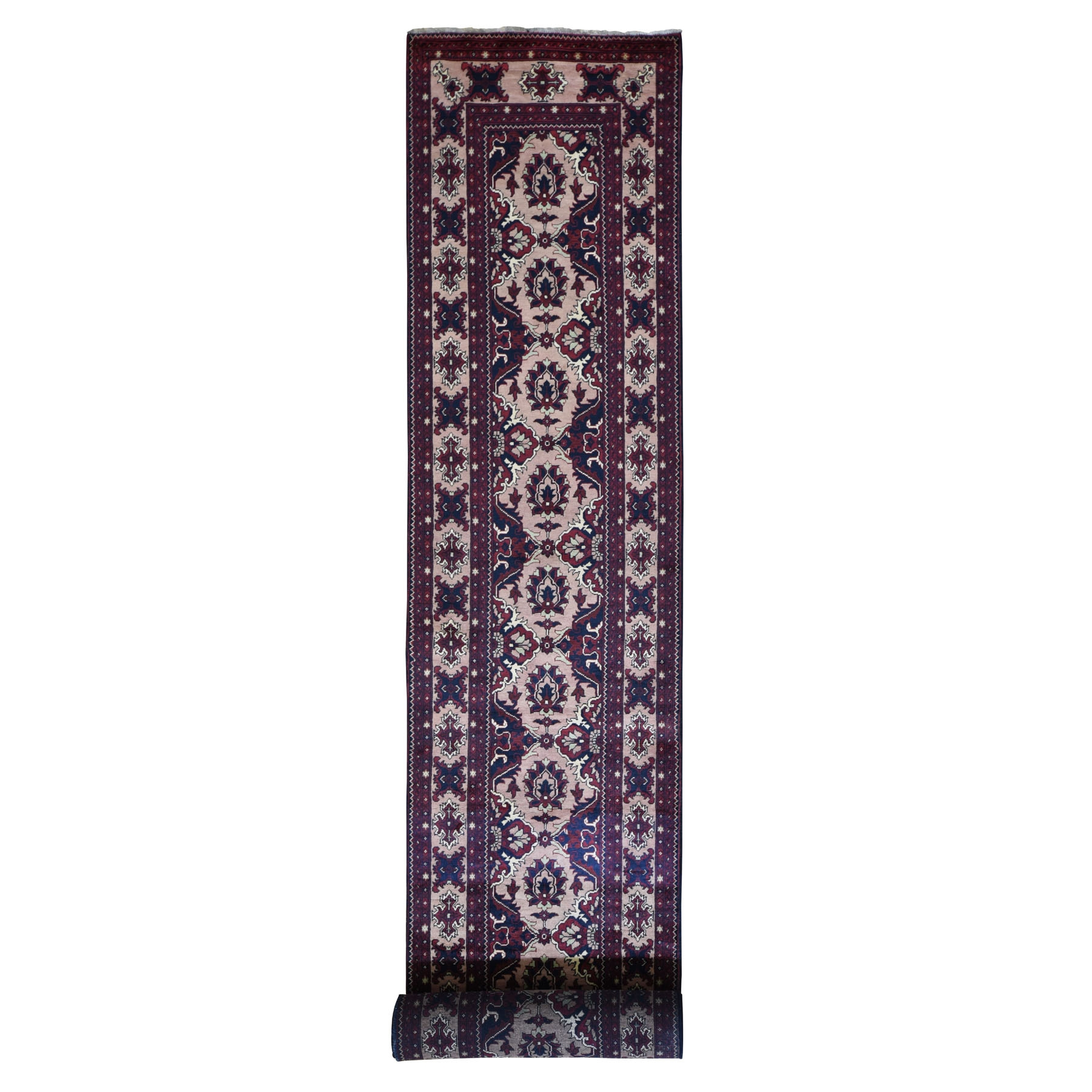 Nomadic And Village Collection Hand Knotted Red Rug No: 199218