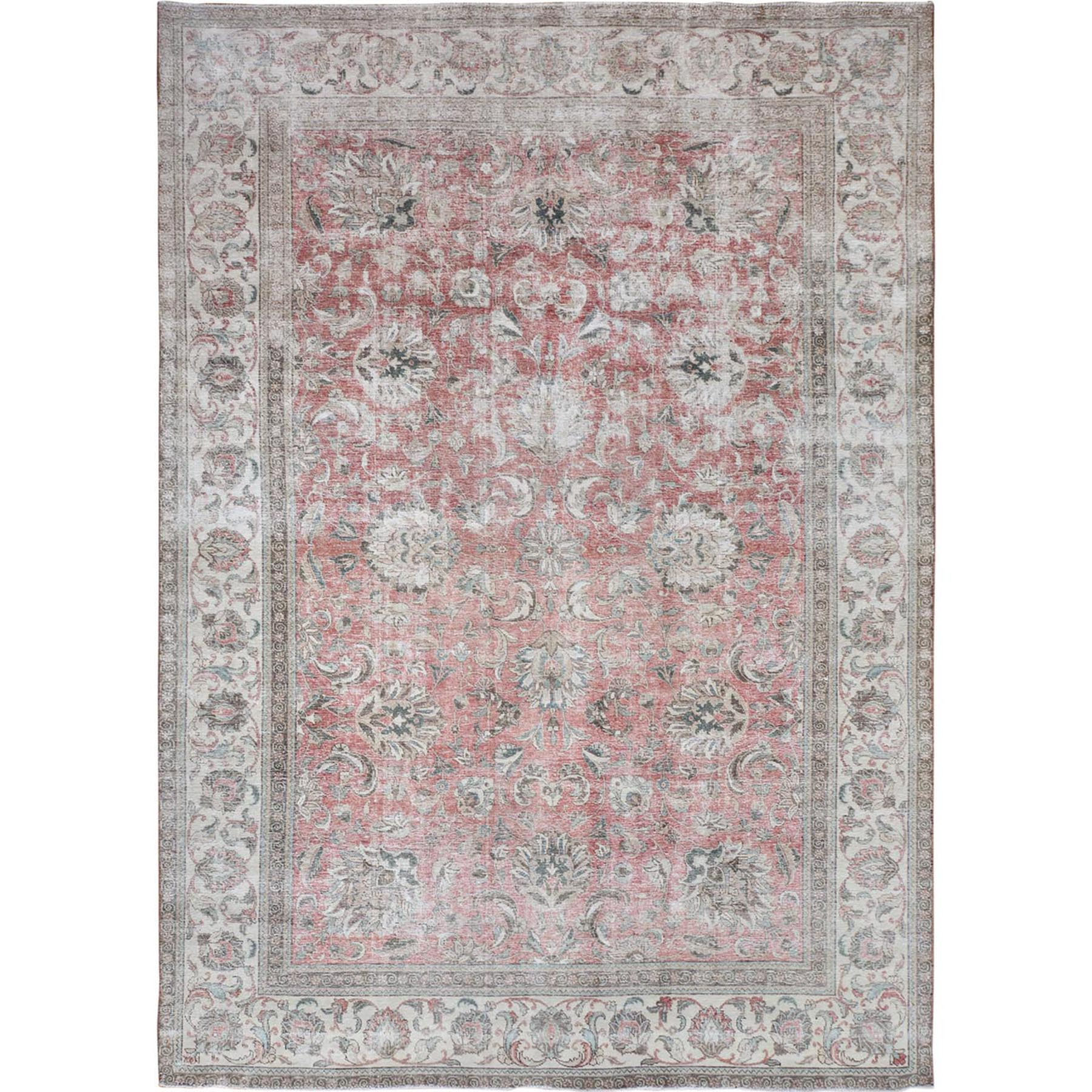 Fetneh Collection And Vintage Overdyed Collection Hand Knotted Red Rug No: 01114682