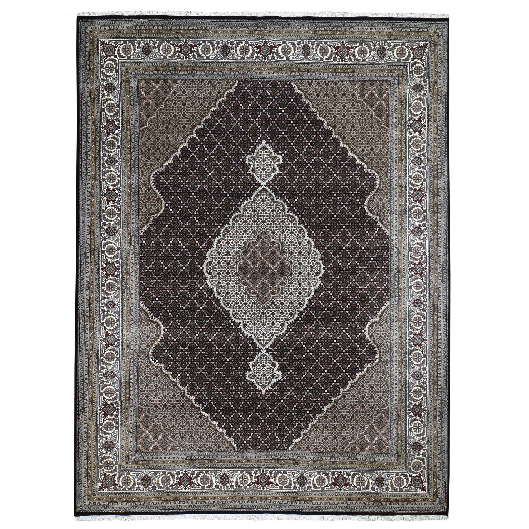 Pirniakan Collection Hand Knotted Black Rug No: 0199260