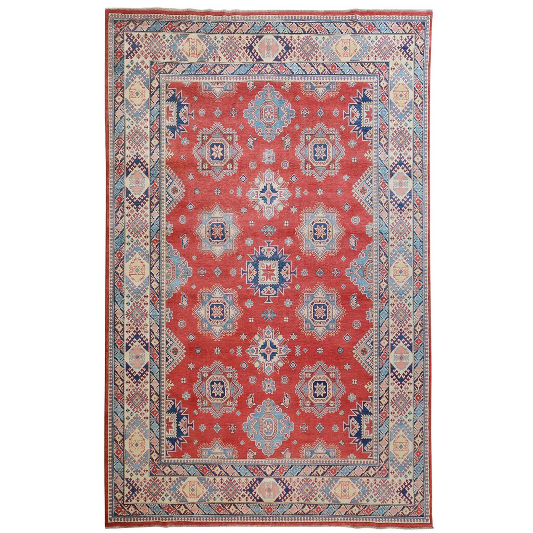 Caucasian Collection Hand Knotted Red Rug No: 01114024