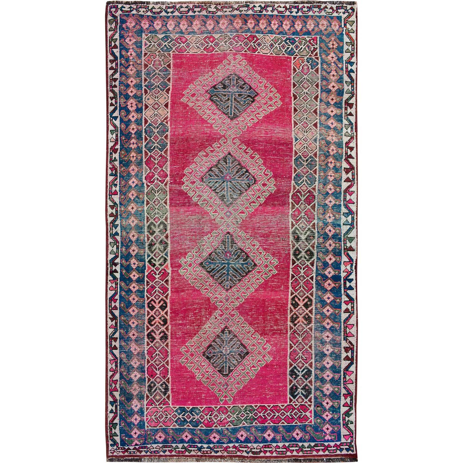 Fetneh Collection And Vintage Overdyed Collection Hand Knotted Pink Rug No: 01114456