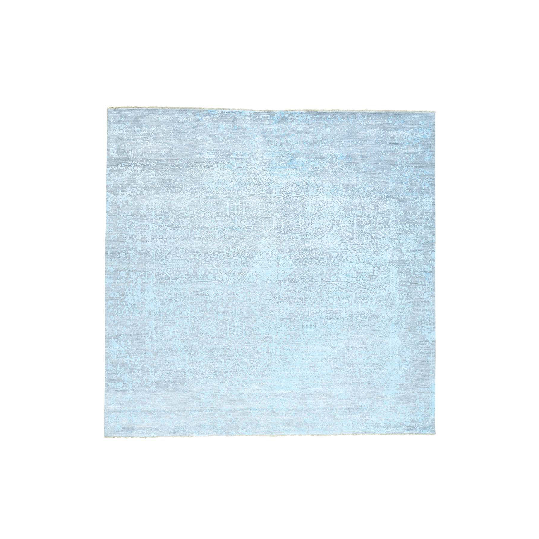 Transitional Hand Knotted Green Rug No: 164350