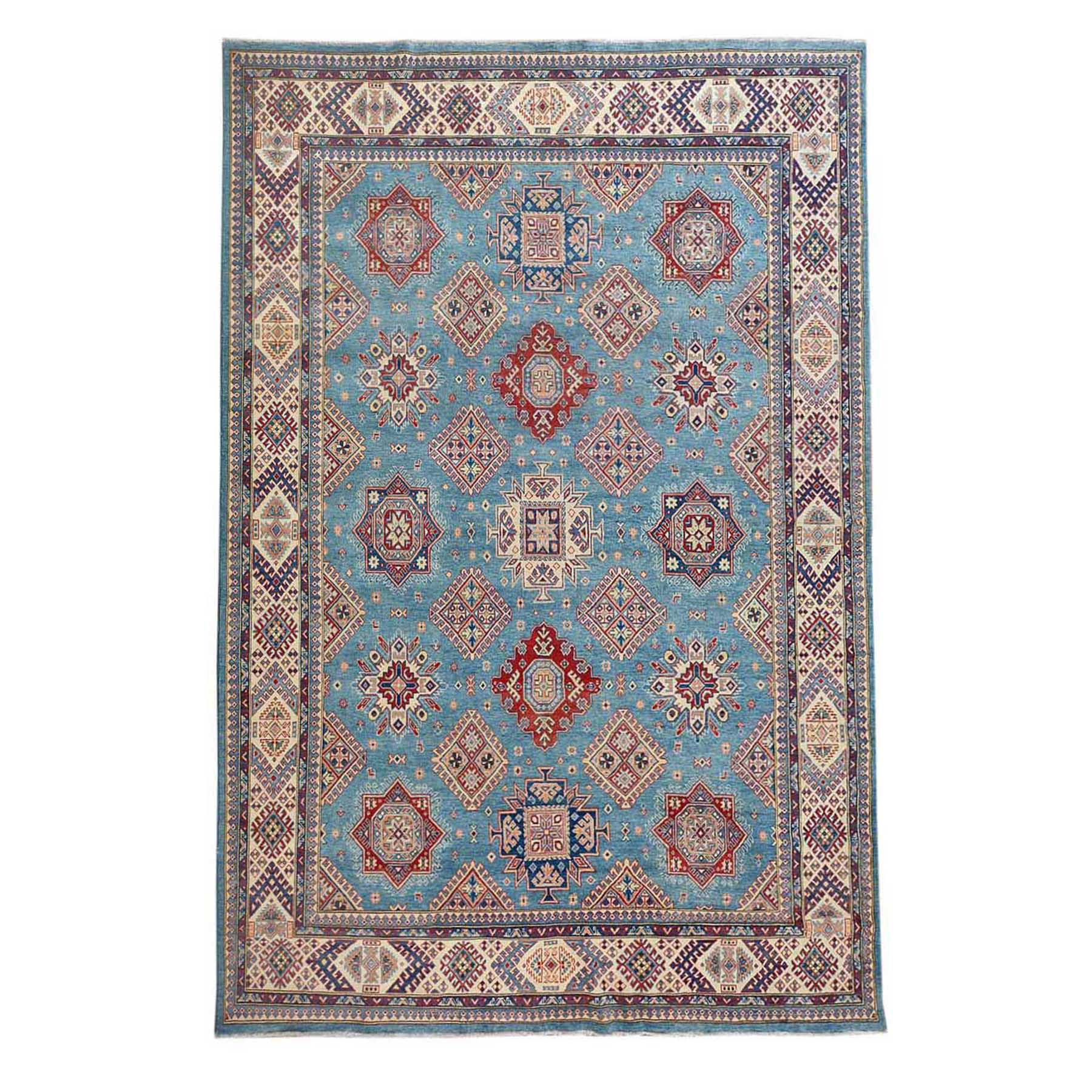 Caucasian Collection Hand Knotted Blue Rug No: 01114092