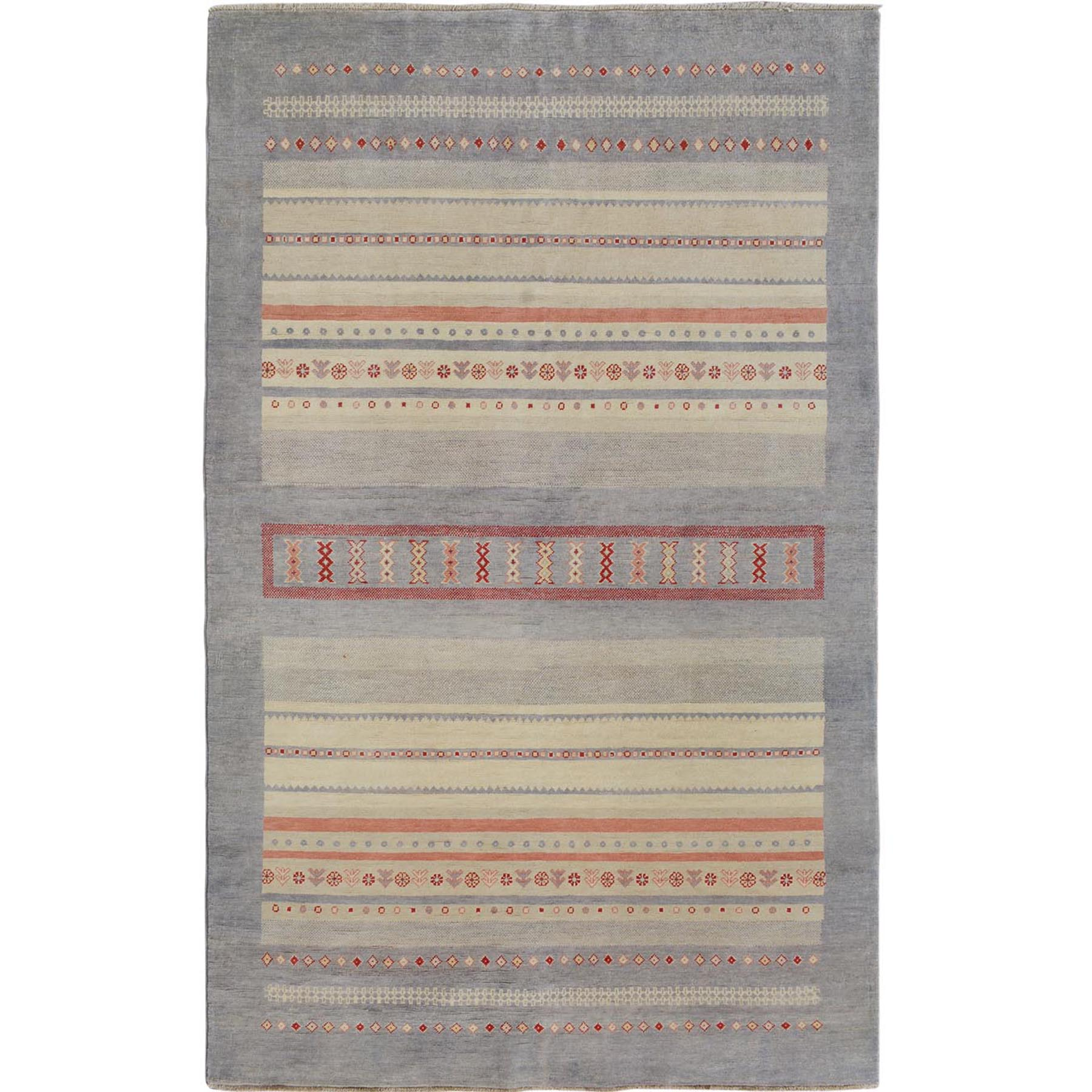 Caucasian Collection Hand Knotted Green Rug No: 01114192