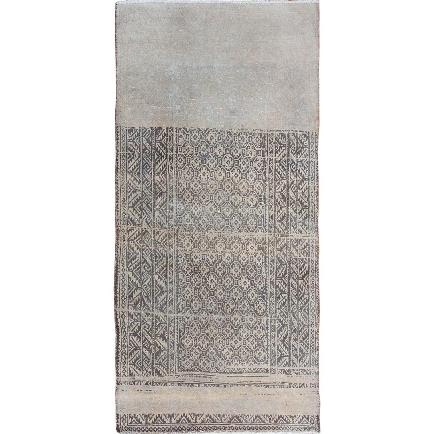 Fetneh Collection And Vintage Overdyed Collection Hand Knotted Grey Rug No: 01114386