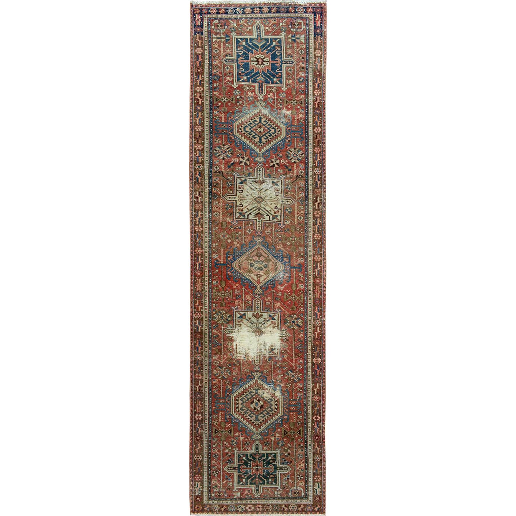 Fetneh Collection And Vintage Overdyed Collection Hand Knotted Red Rug No: 01114320