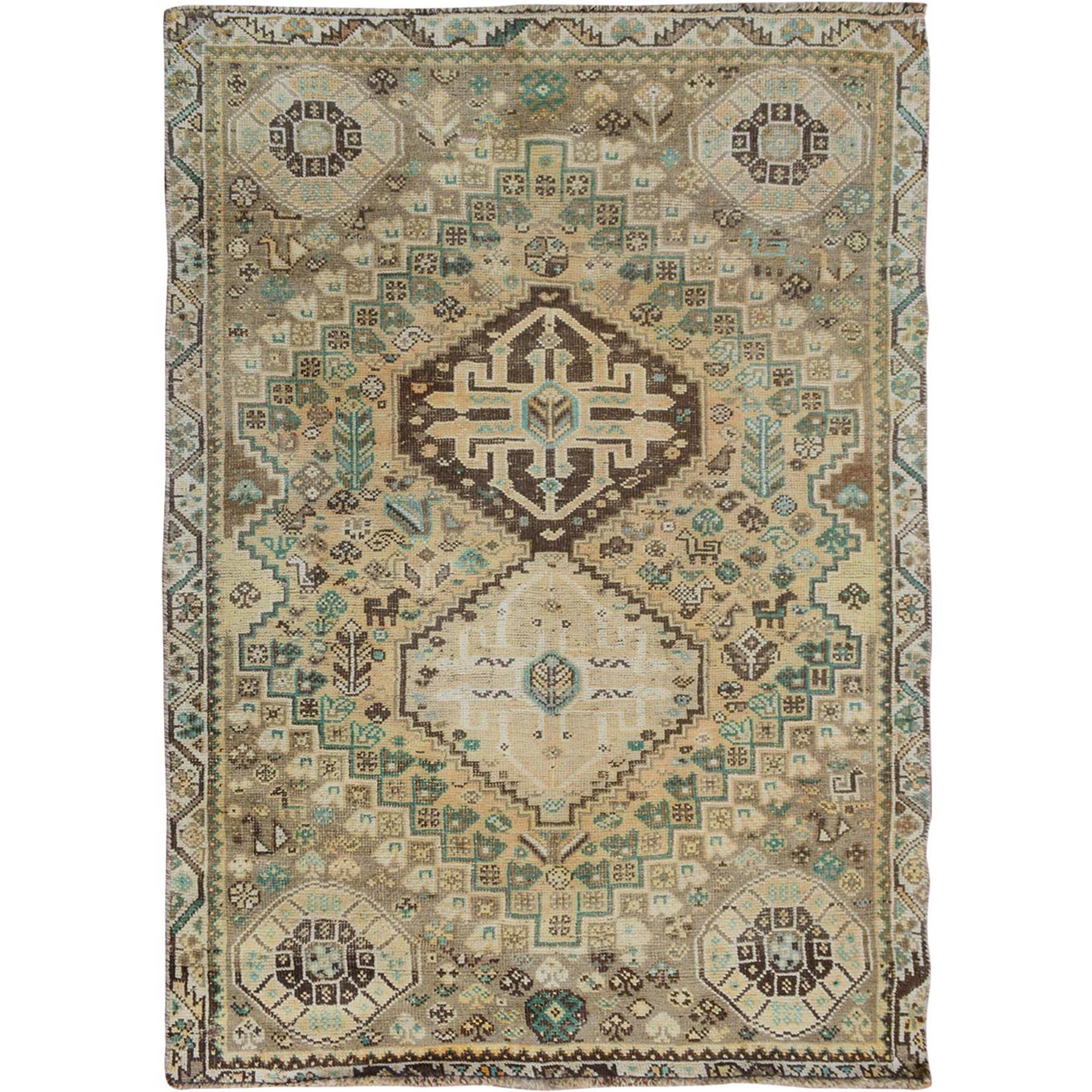Fetneh Collection And Vintage Overdyed Collection Hand Knotted Grey Rug No: 01114358