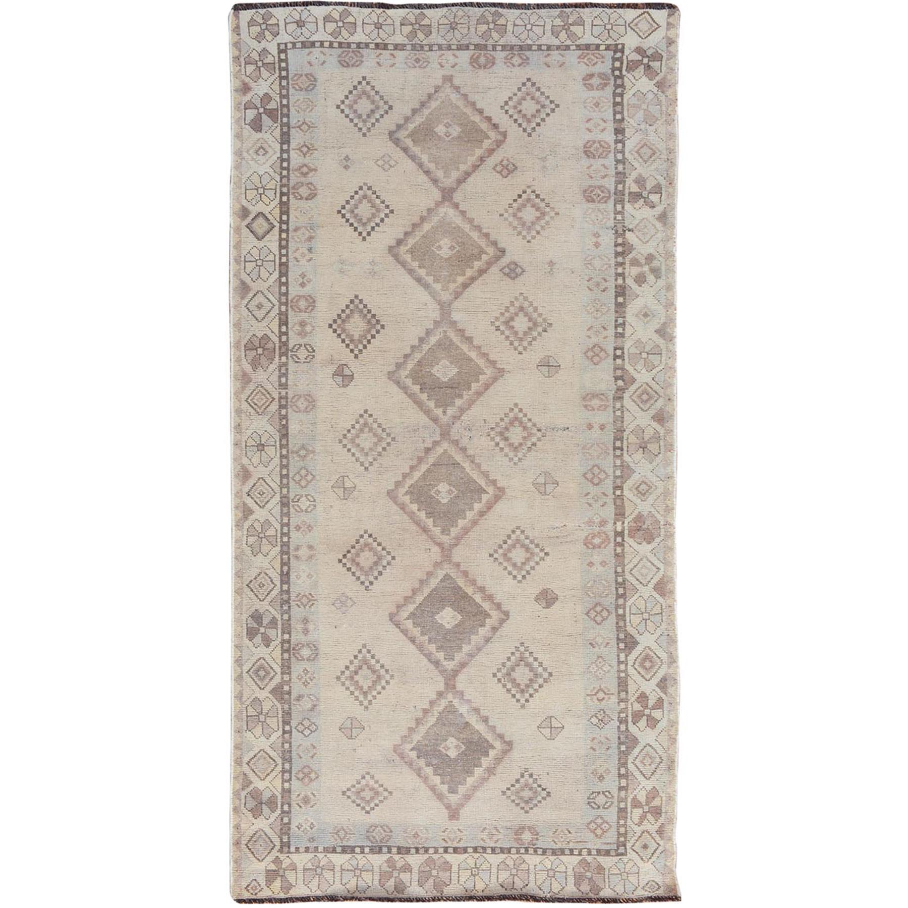 Fetneh Collection And Vintage Overdyed Collection Hand Knotted Grey Rug No: 01114420