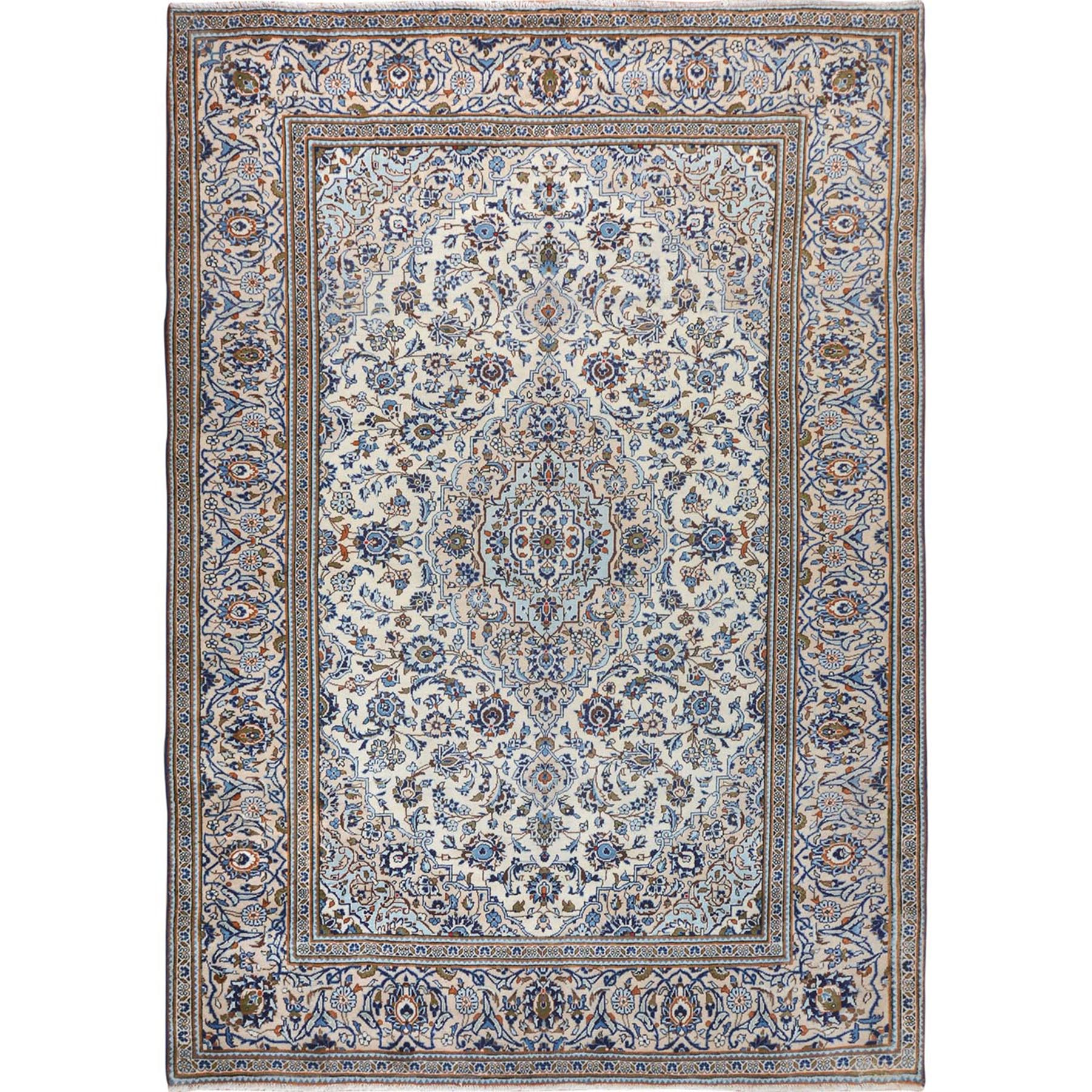 Classic Persian Collection Hand Knotted Ivory Rug No: 1114760
