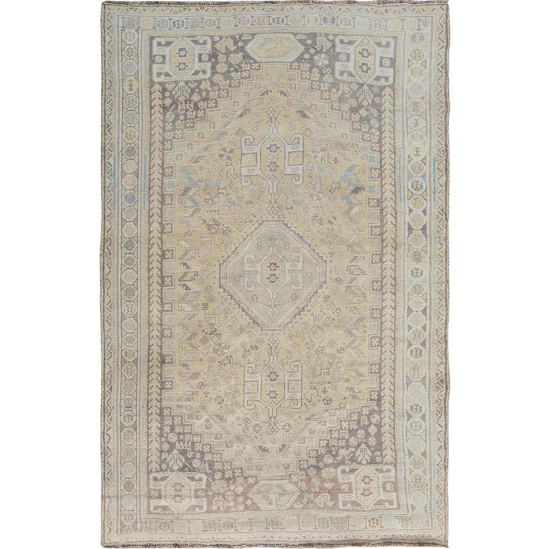 Fetneh Collection And Vintage Overdyed Collection Hand Knotted Beige Rug No: 1114438