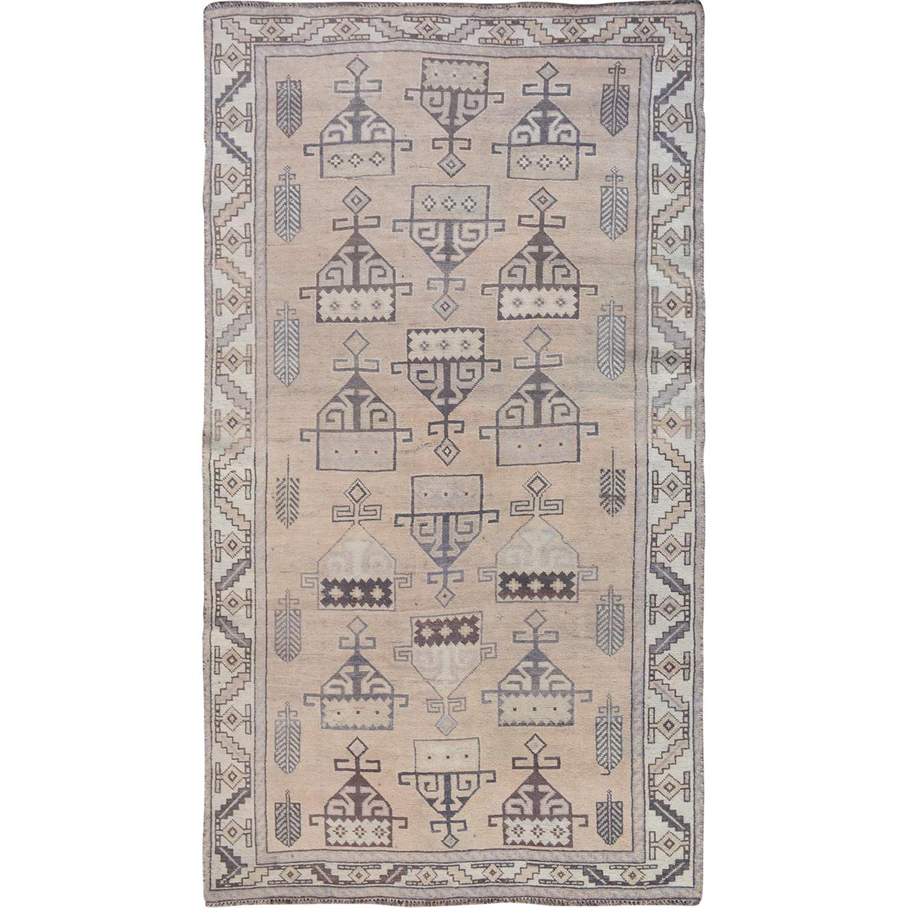 Fetneh Collection And Vintage Overdyed Collection Hand Knotted Grey Rug No: 01114558