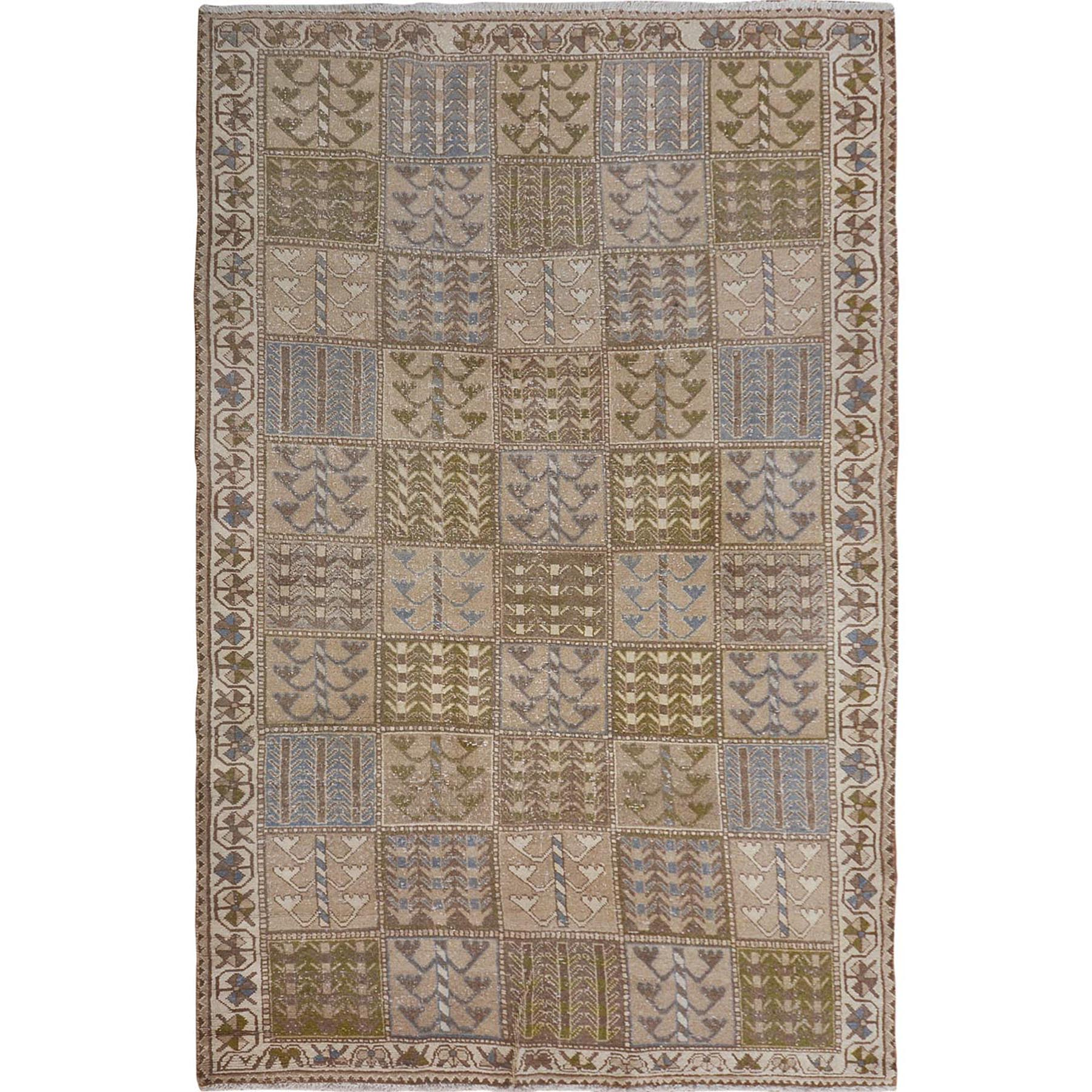 Fetneh Collection And Vintage Overdyed Collection Hand Knotted Brown Rug No: 01114538