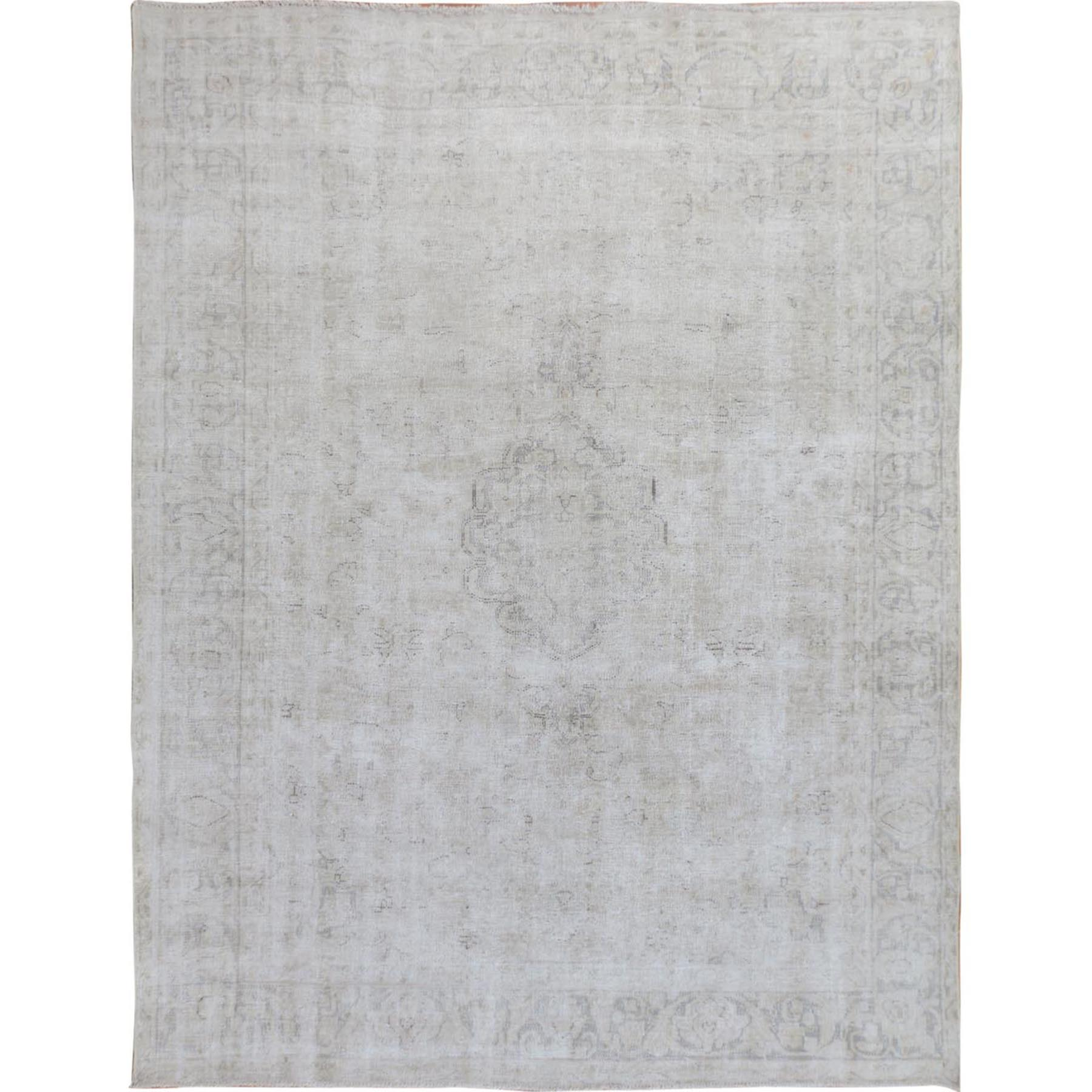 Fetneh Collection And Vintage Overdyed Collection Hand Knotted Ivory Rug No: 01114808