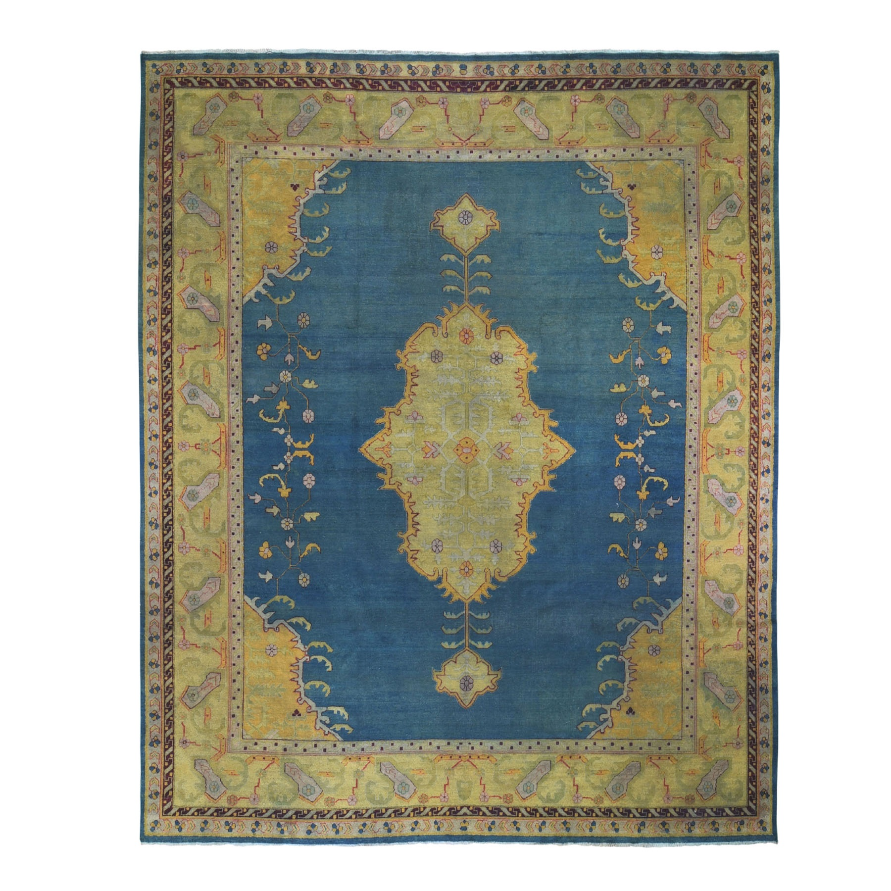 Antique Collection Hand Knotted Teal Rug No: 0199294