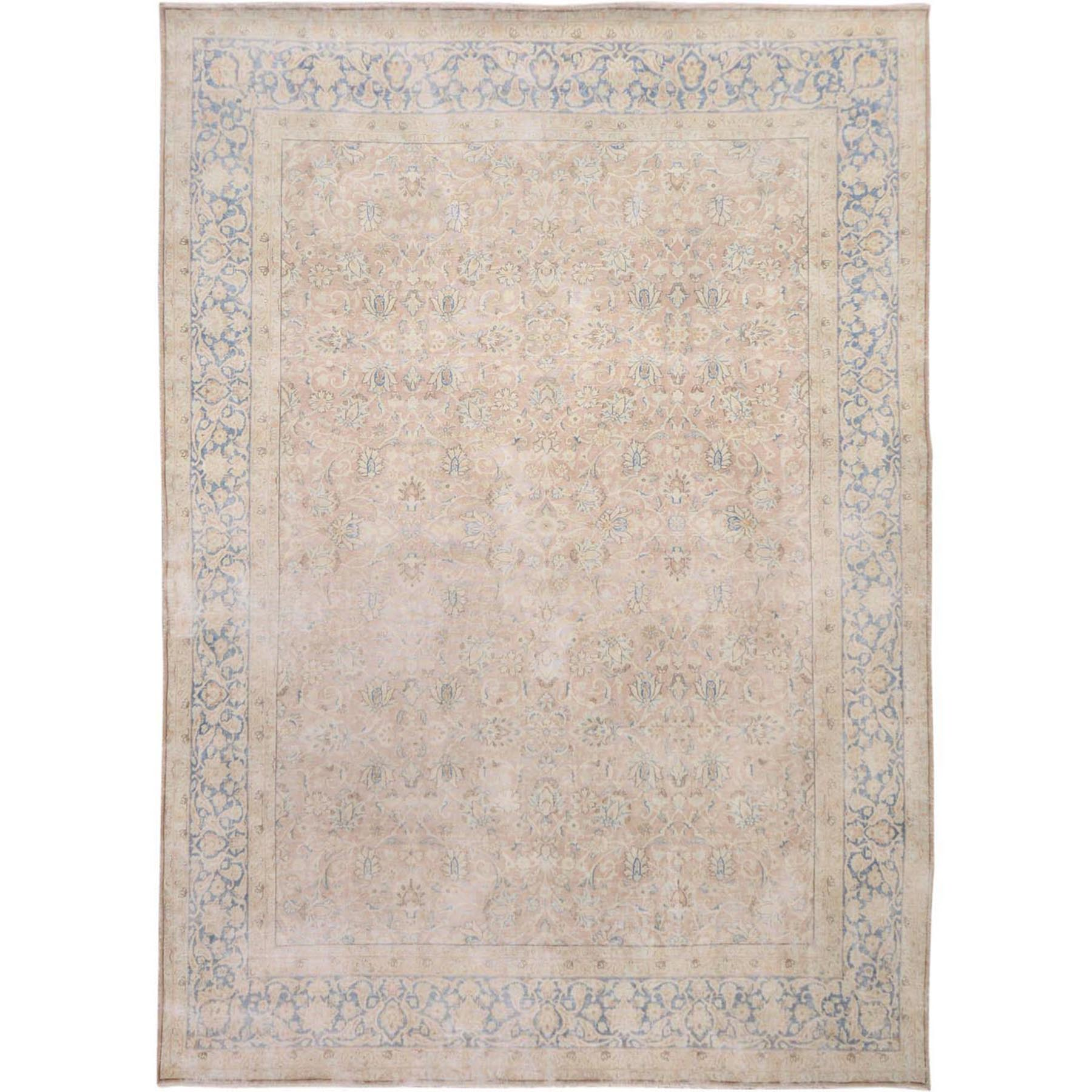 Fetneh Collection And Vintage Overdyed Collection Hand Knotted Pink Rug No: 1114832