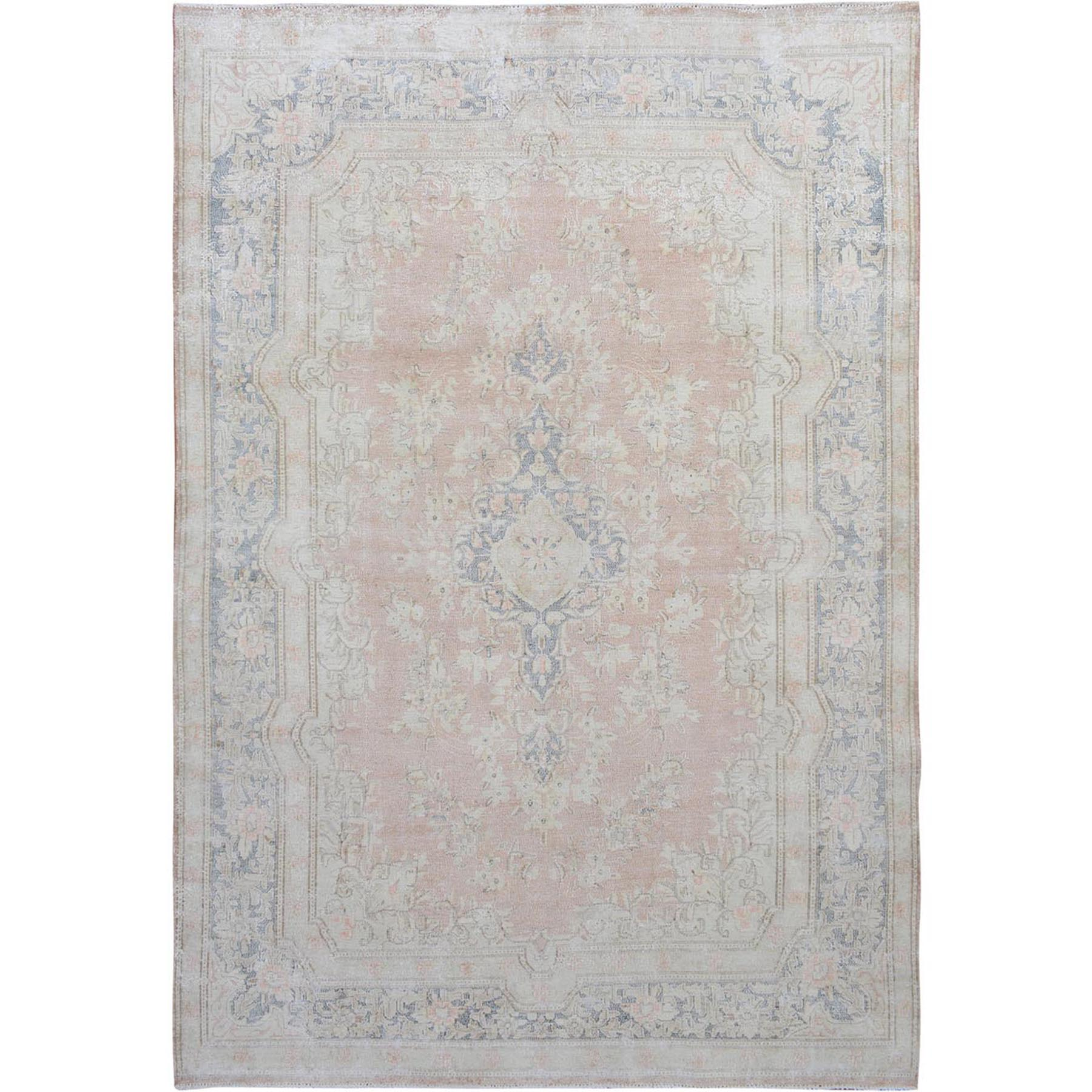 Fetneh Collection And Vintage Overdyed Collection Hand Knotted Pink Rug No: 01114862
