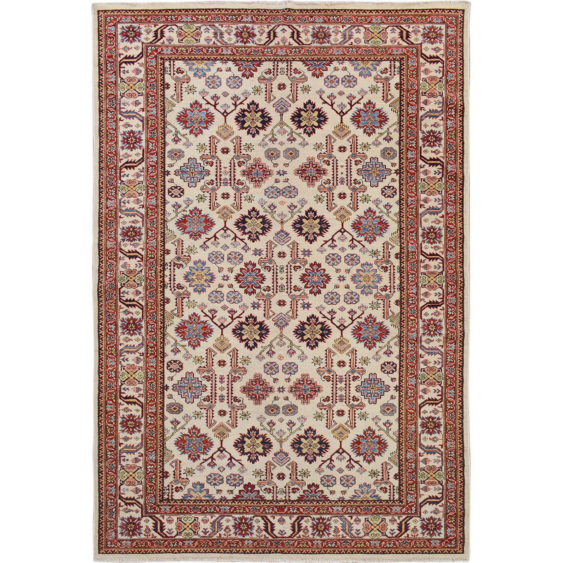 Caucasian Collection Hand Knotted Ivory Rug No: 01115078