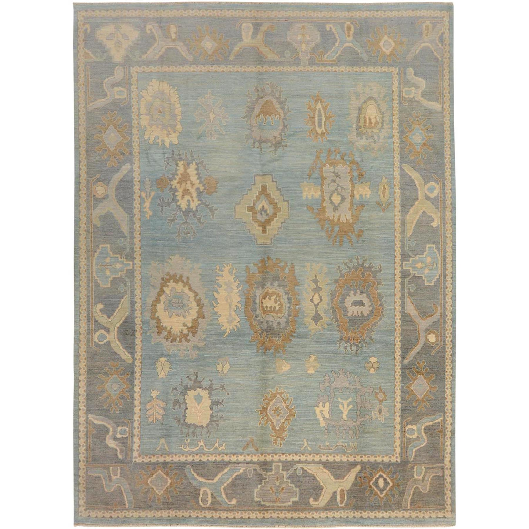 Agra And Turkish Collection Hand Knotted Blue Rug No: 01115050