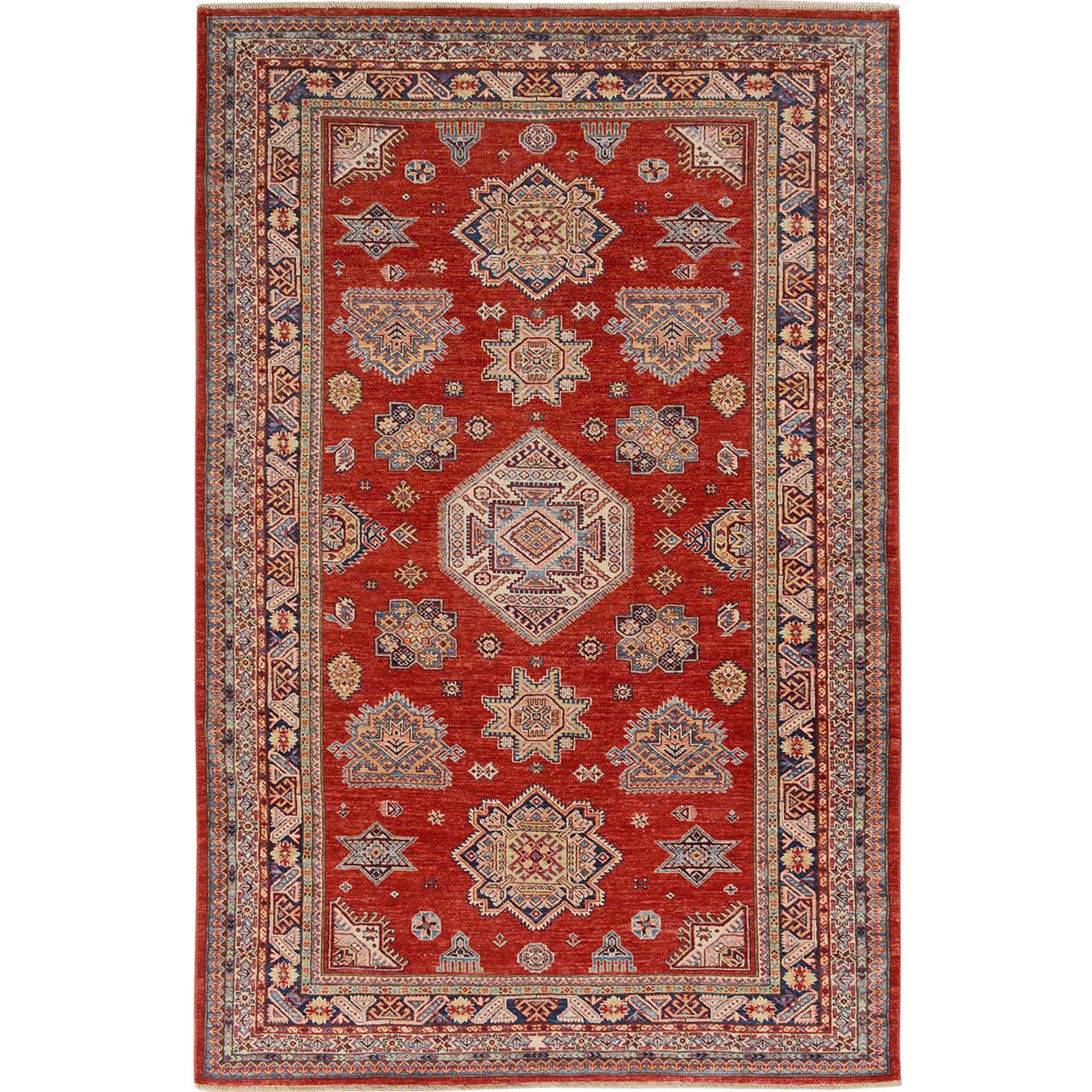 Caucasian Collection Hand Knotted Red Rug No: 01115080