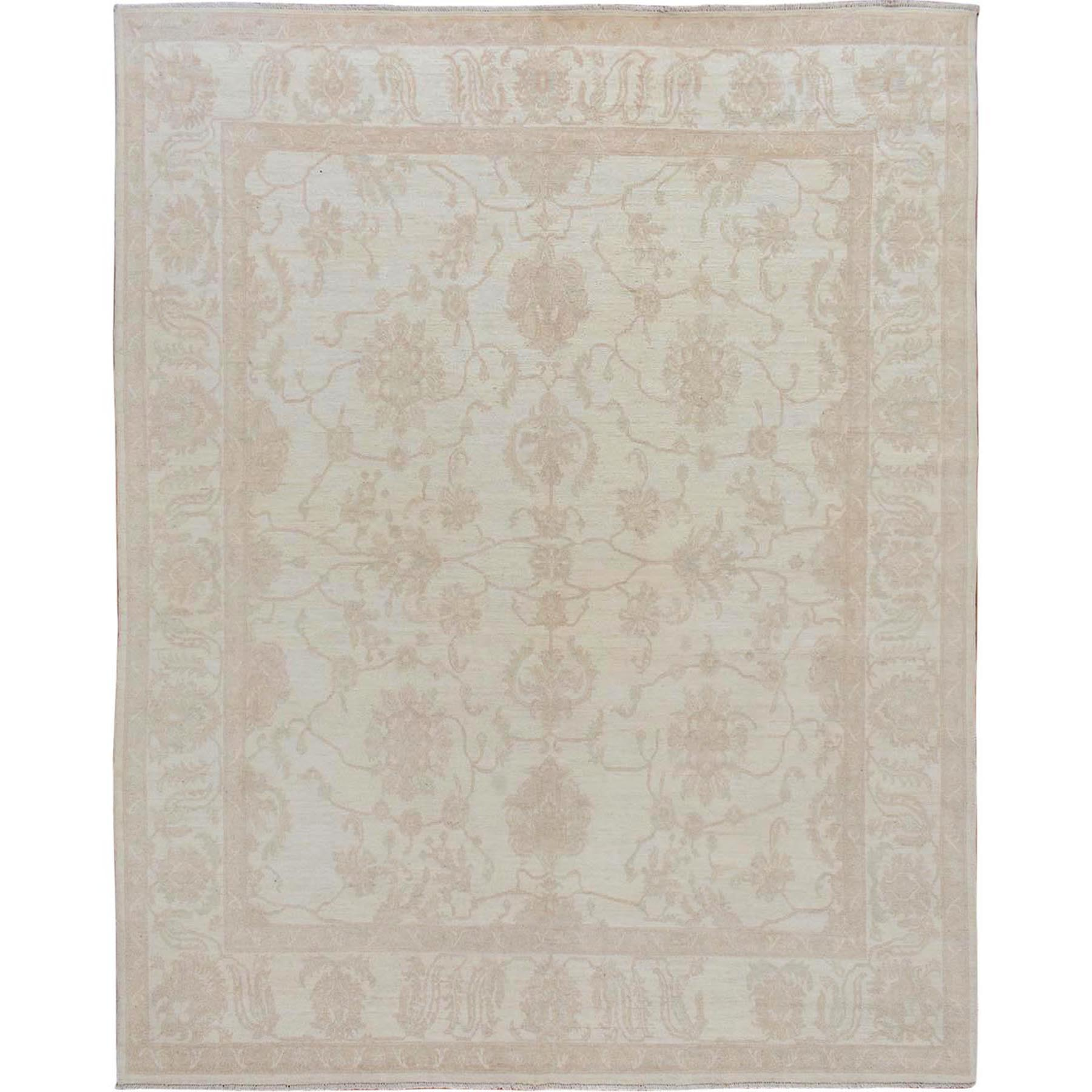 Agra And Turkish Collection Hand Knotted Ivory Rug No: 01115076