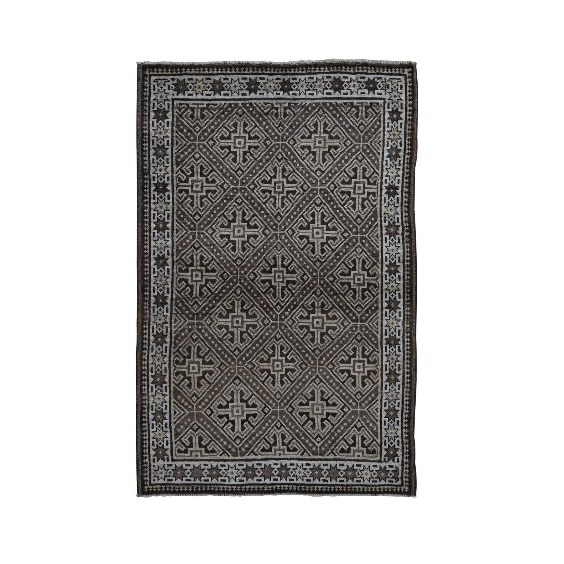 Nomadic And Village Collection Hand Knotted Brown Rug No: 0199330