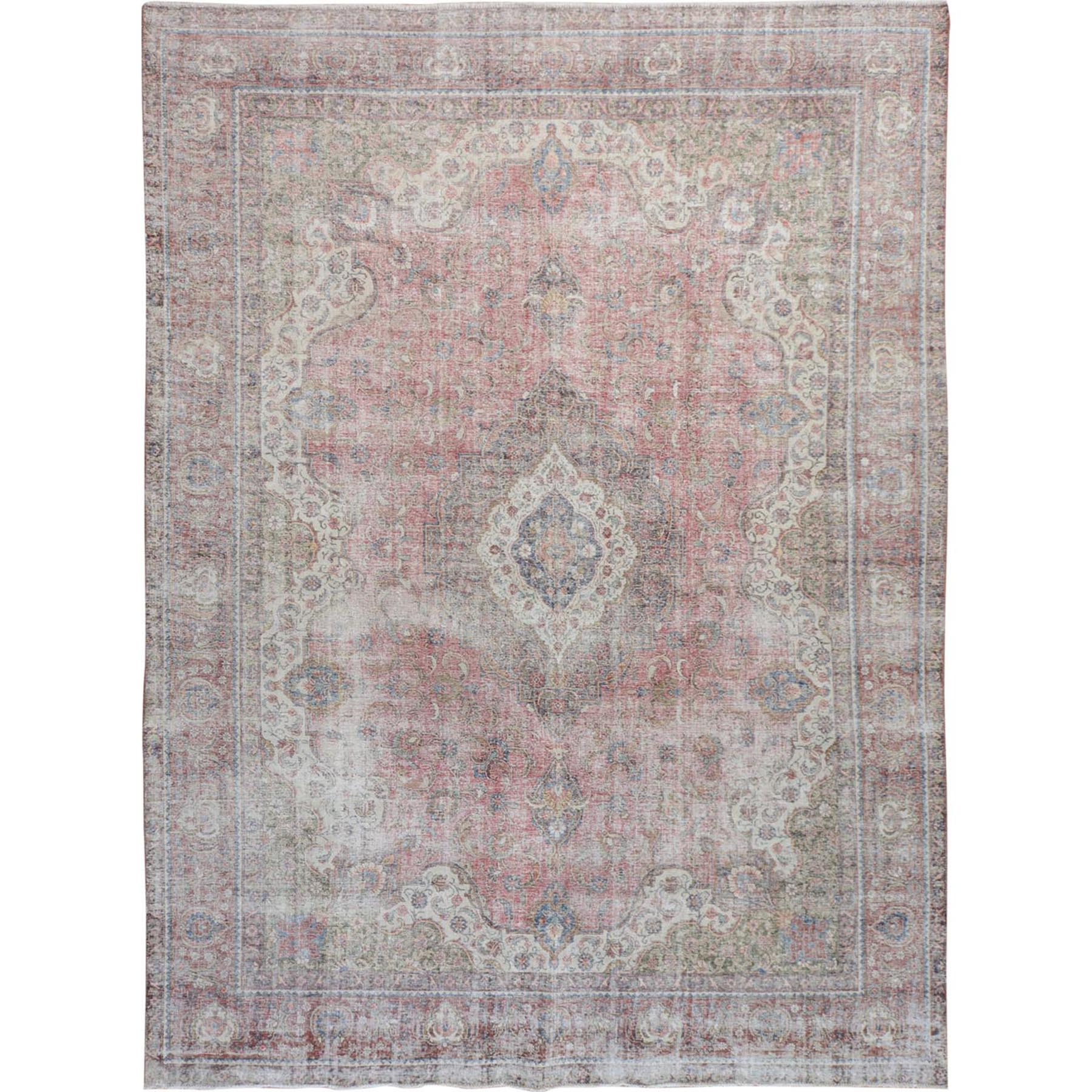 Fetneh Collection And Vintage Overdyed Collection Hand Knotted Pink Rug No: 01114700